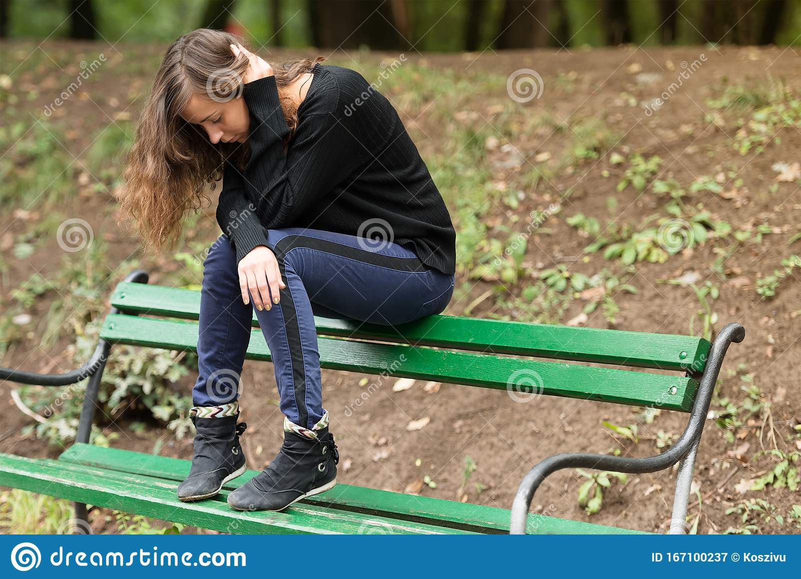 Depressed Woman In Stress Stock Image Image Of Woman 167100237