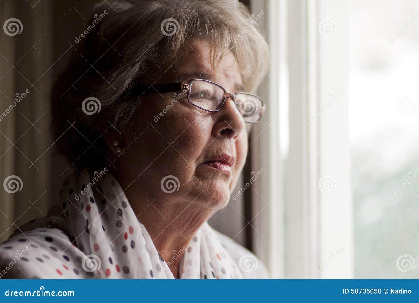 Depressie van een Hogere Vrouw