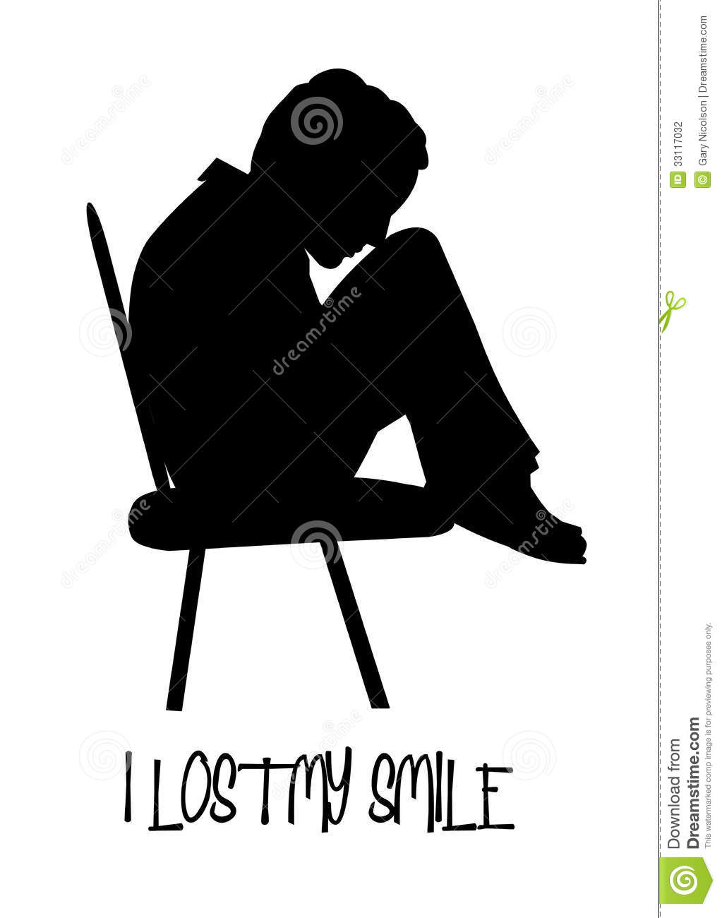 Depression Clipart Sitting Alone Clipart Young