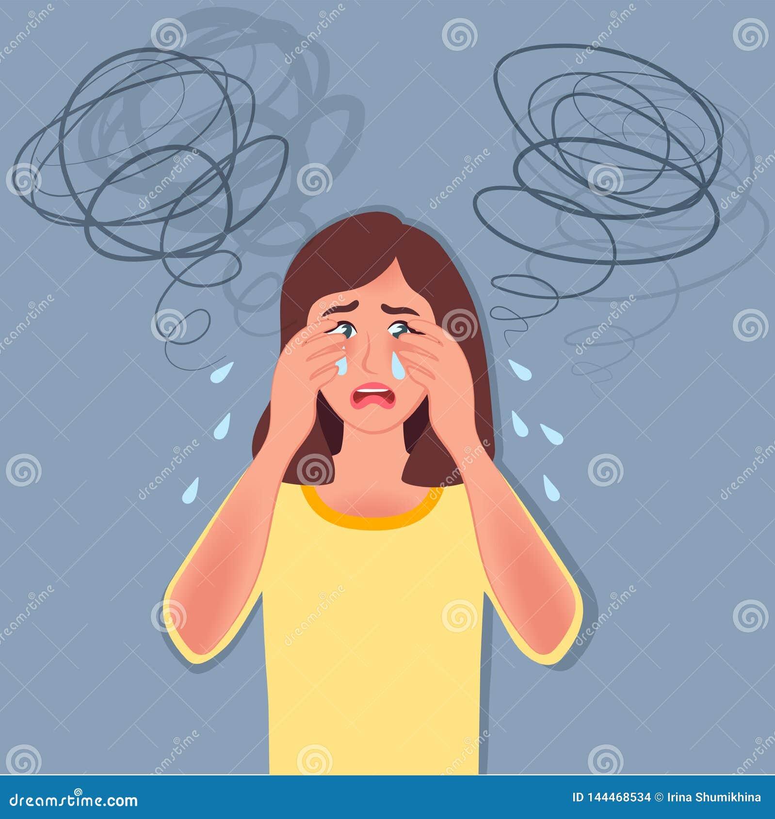 Depressione Grida ed ha spaventato Difficoltà, disturbi psicologici r