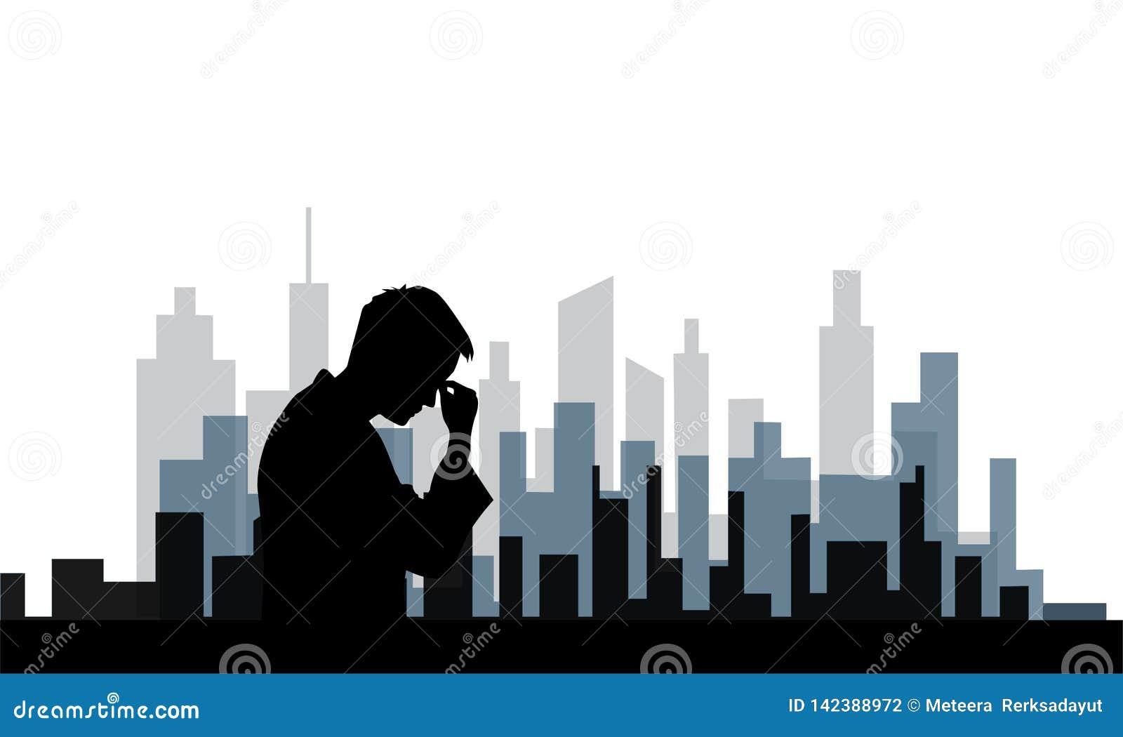 Depressive nieład ludzie w dużym mieście