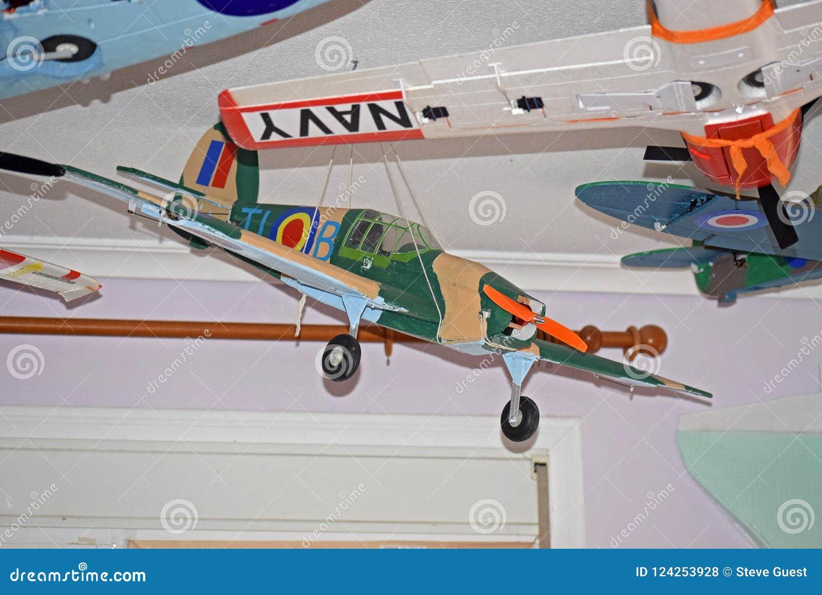 Model Aircraft Hawker Hurricane  Stock Photo - Image of