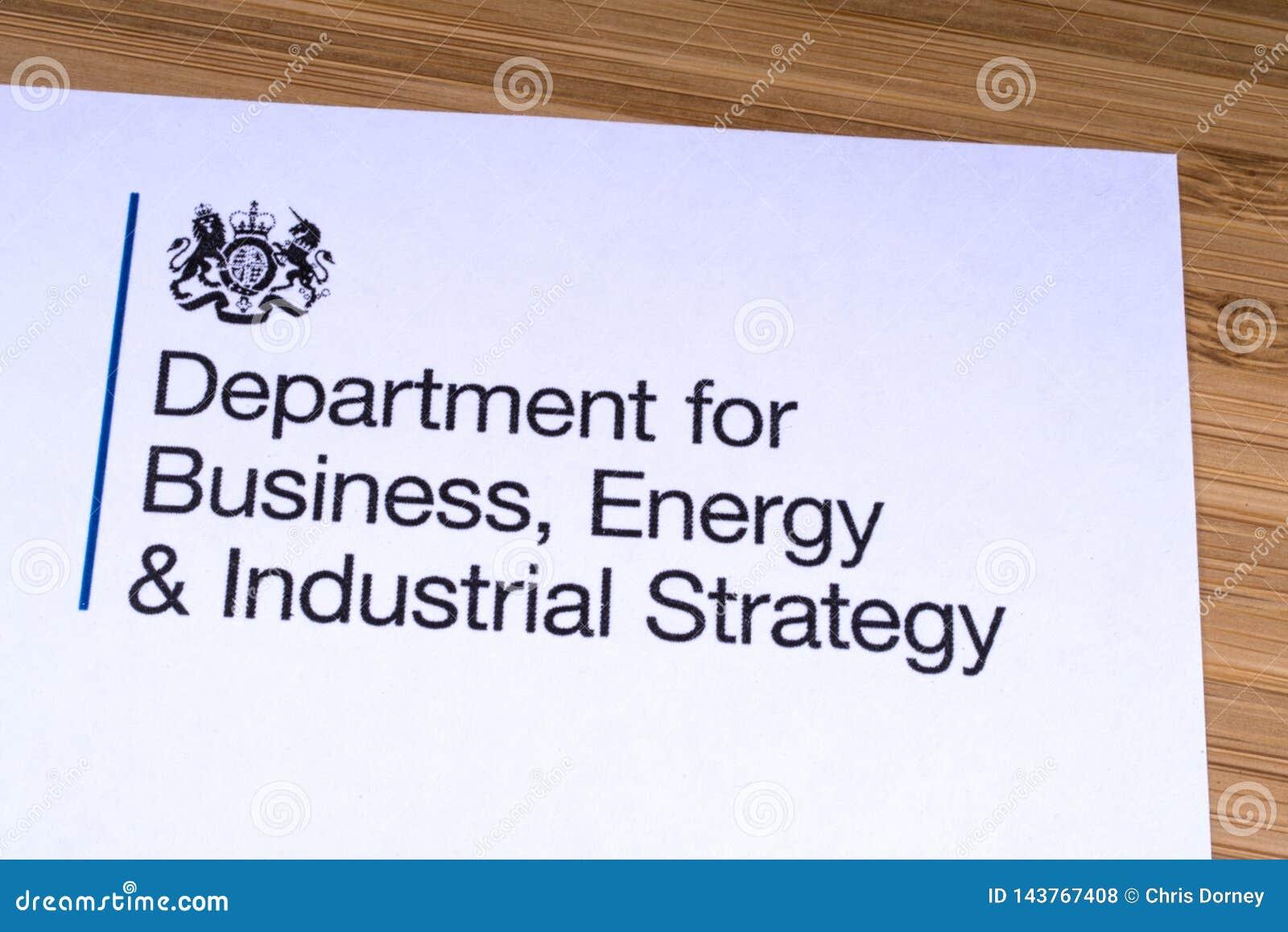Dept для дела, энергии и промышленной стратегии