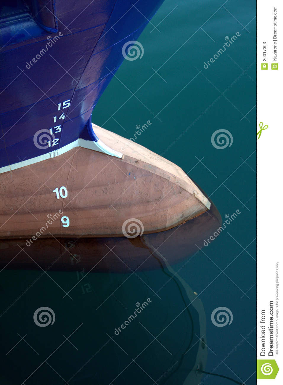Depth Markings On Prow Of Boat Stock Photos - Image: 20317303