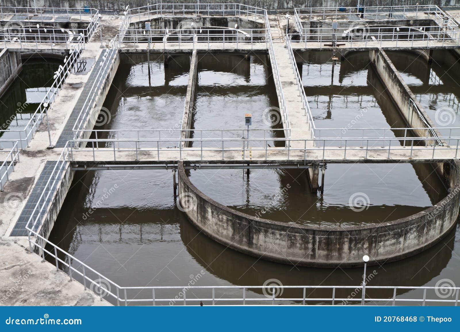 Depuradoras de aguas residuales fotos de archivo libres for Depuradora aguas residuales