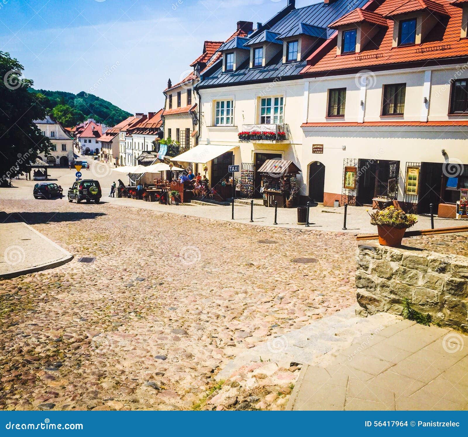 Der alte Marktplatz in Kazimierz Dolny, Polen