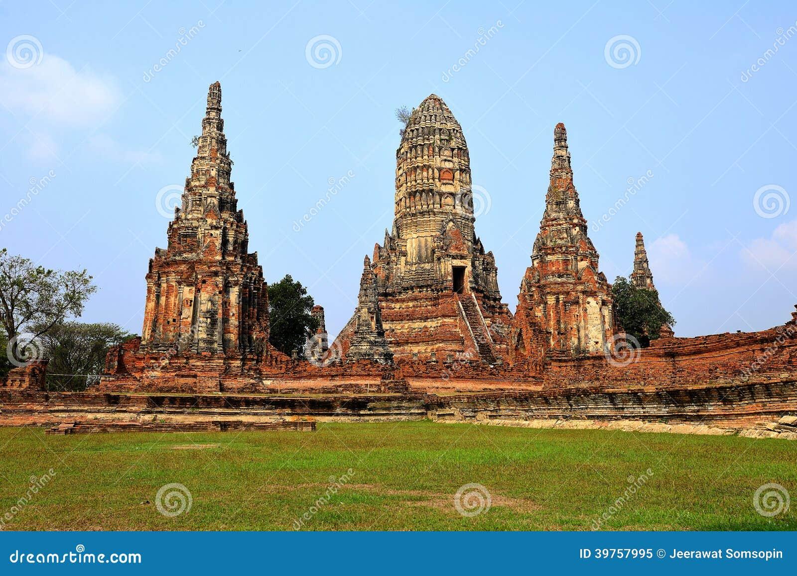 der alte tempel der alten hauptstadt von thailand stockbild bild von historisch site 39757995. Black Bedroom Furniture Sets. Home Design Ideas