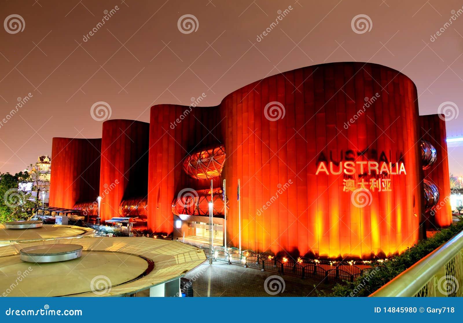 Der Australien-Pavillion an der Weltausstellung in Shanghai