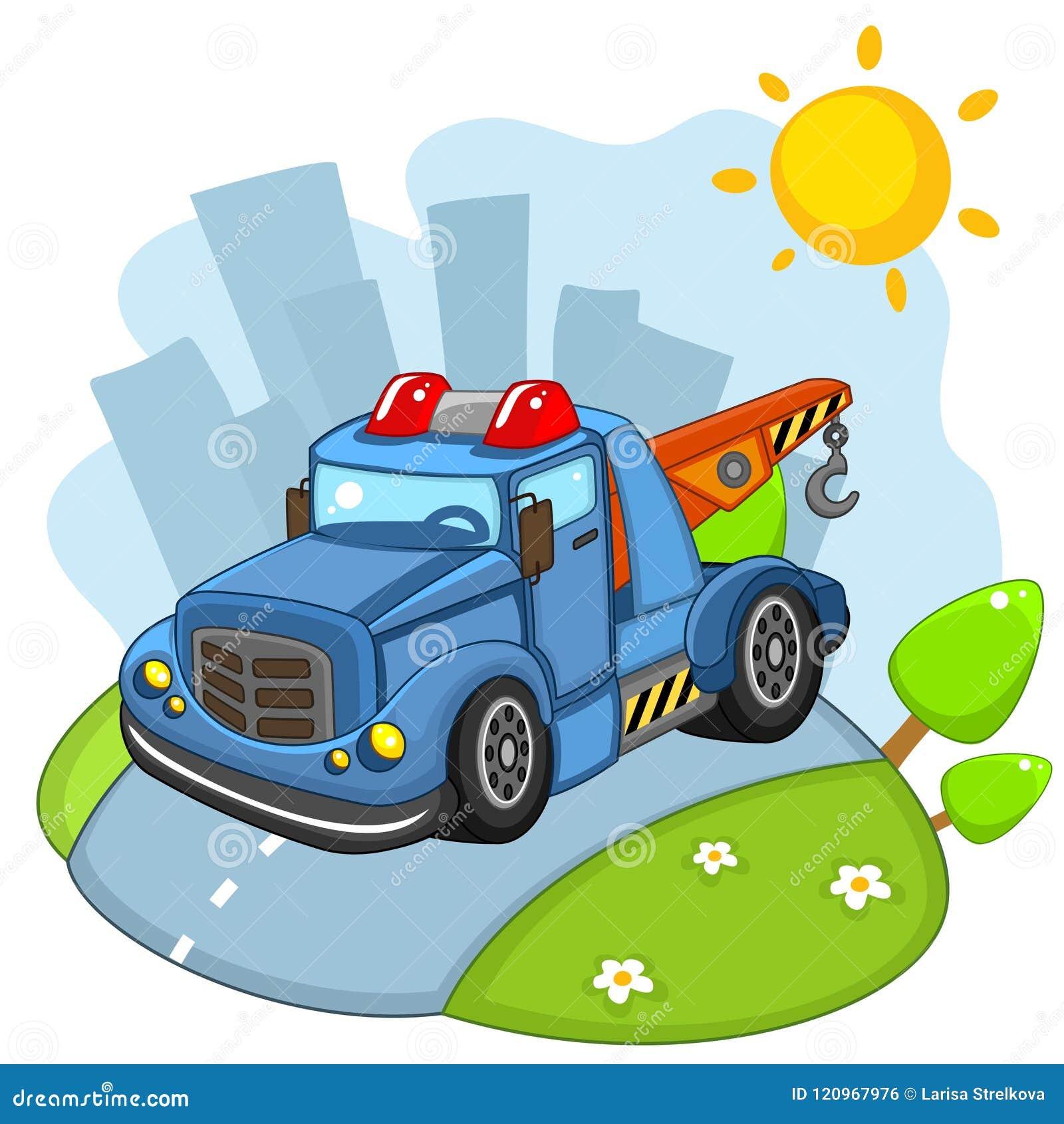 Der Auto Lkw Mit Einem Haken Vektor Abbildung Illustration Von