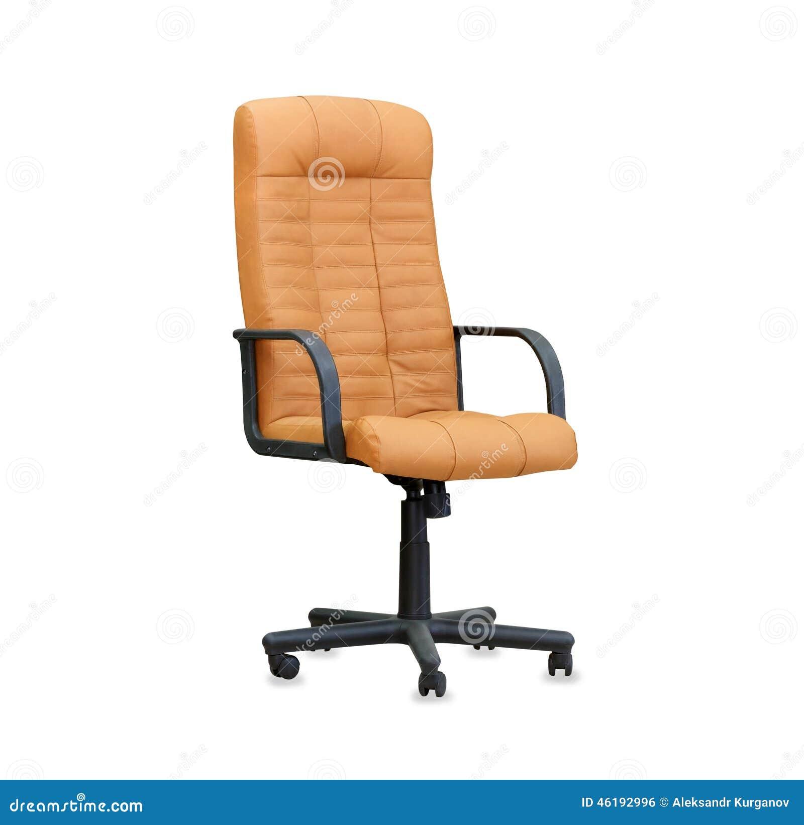 der b rostuhl vom beige leder getrennt stockfoto bild 46192996. Black Bedroom Furniture Sets. Home Design Ideas