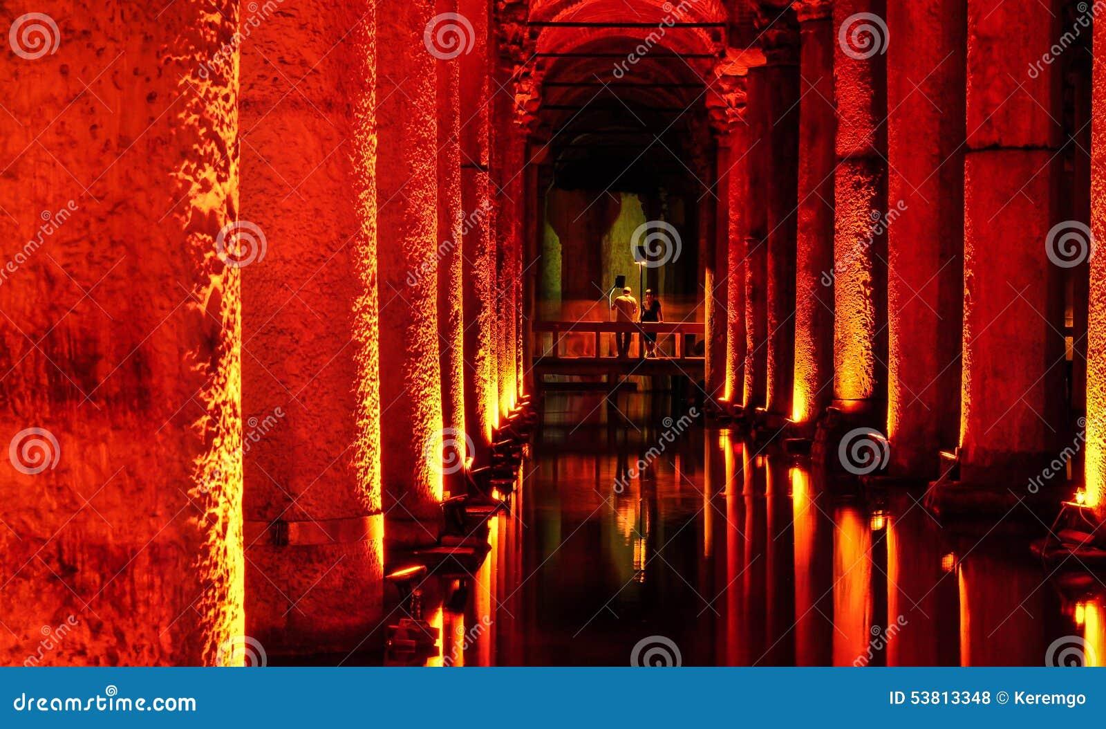 Der Basilika-Zisternen-versunkene Palast
