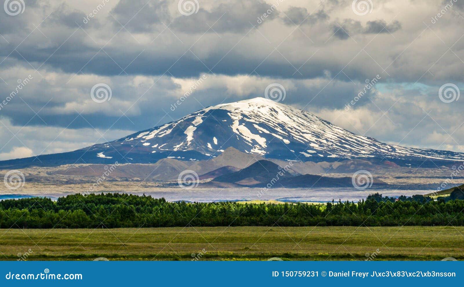 Der berüchtigte Hekla-Vulkan, Süd-Island