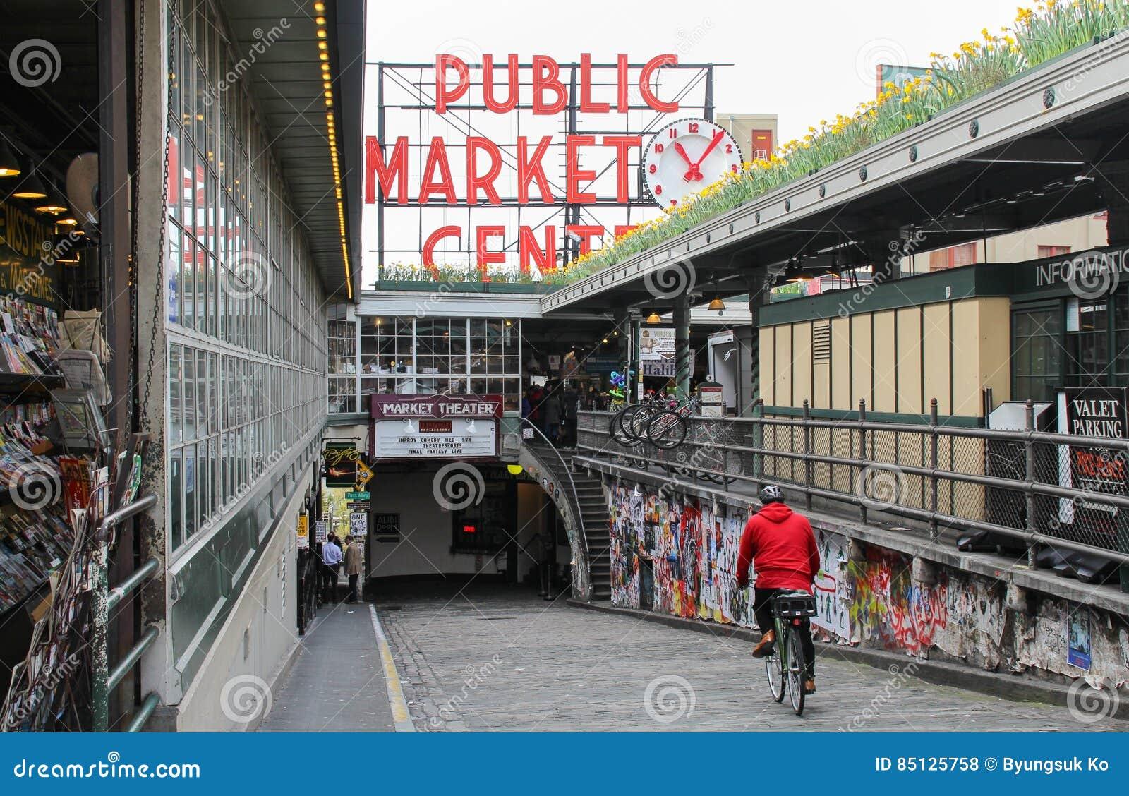 Der berühmter Pike-Platz-allgemeine Markt