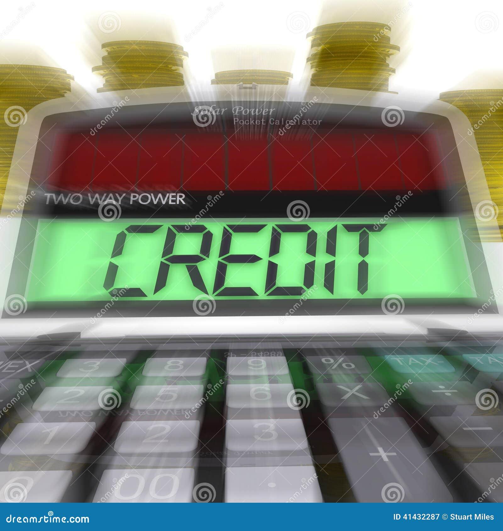 der berechnete kredit bedeutet kreditvaluta und finanzierung stock abbildung bild 41432287. Black Bedroom Furniture Sets. Home Design Ideas