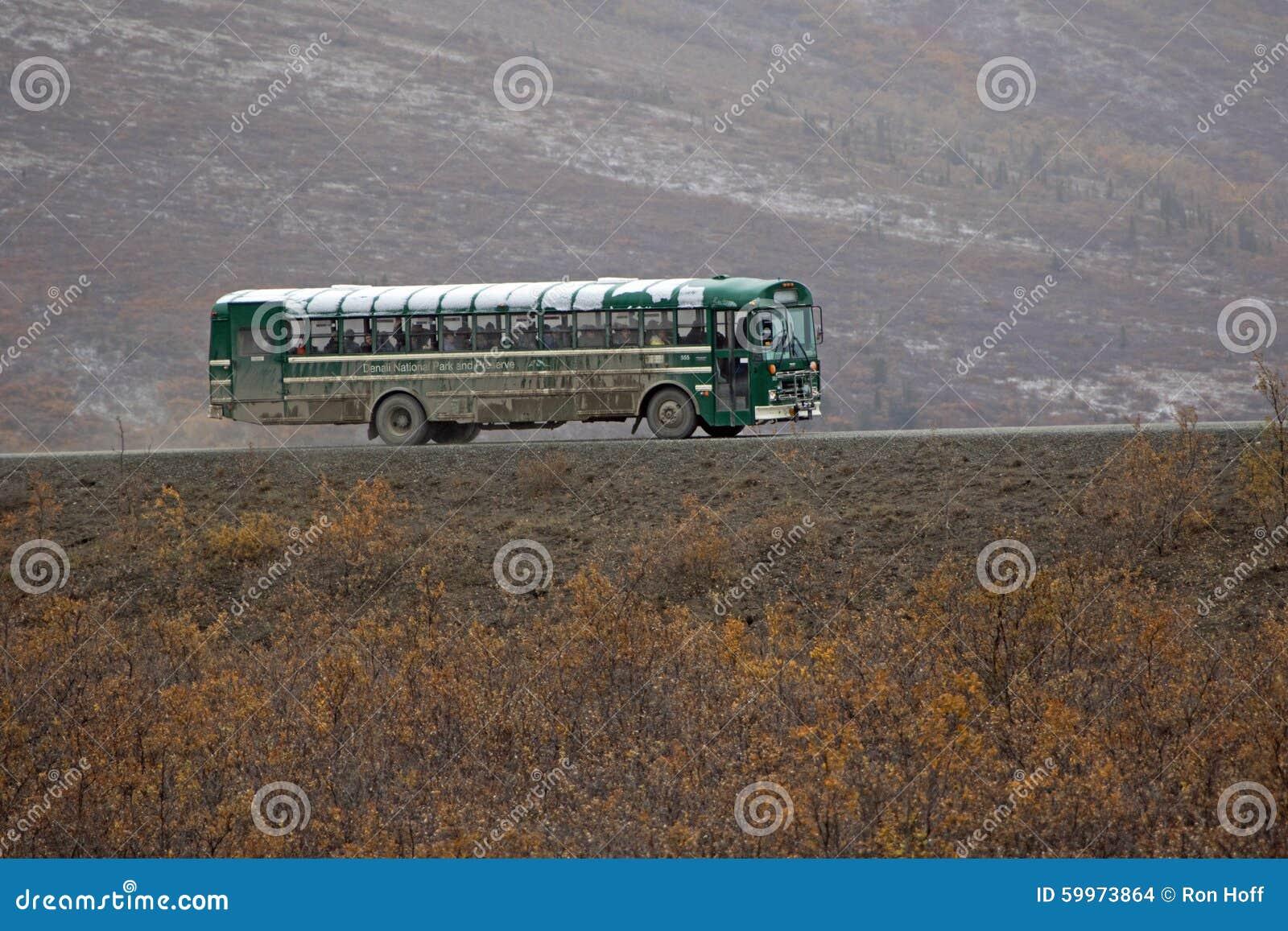 Der Besucher-Reisebus in Nationalpark Denali