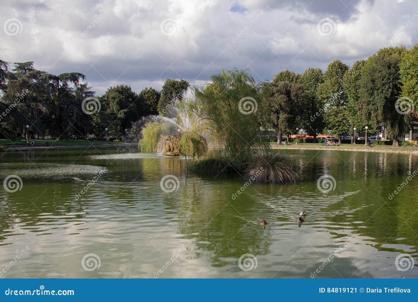 Der Brunnen im Garten von Basso Fortezza DA Florenz Italien