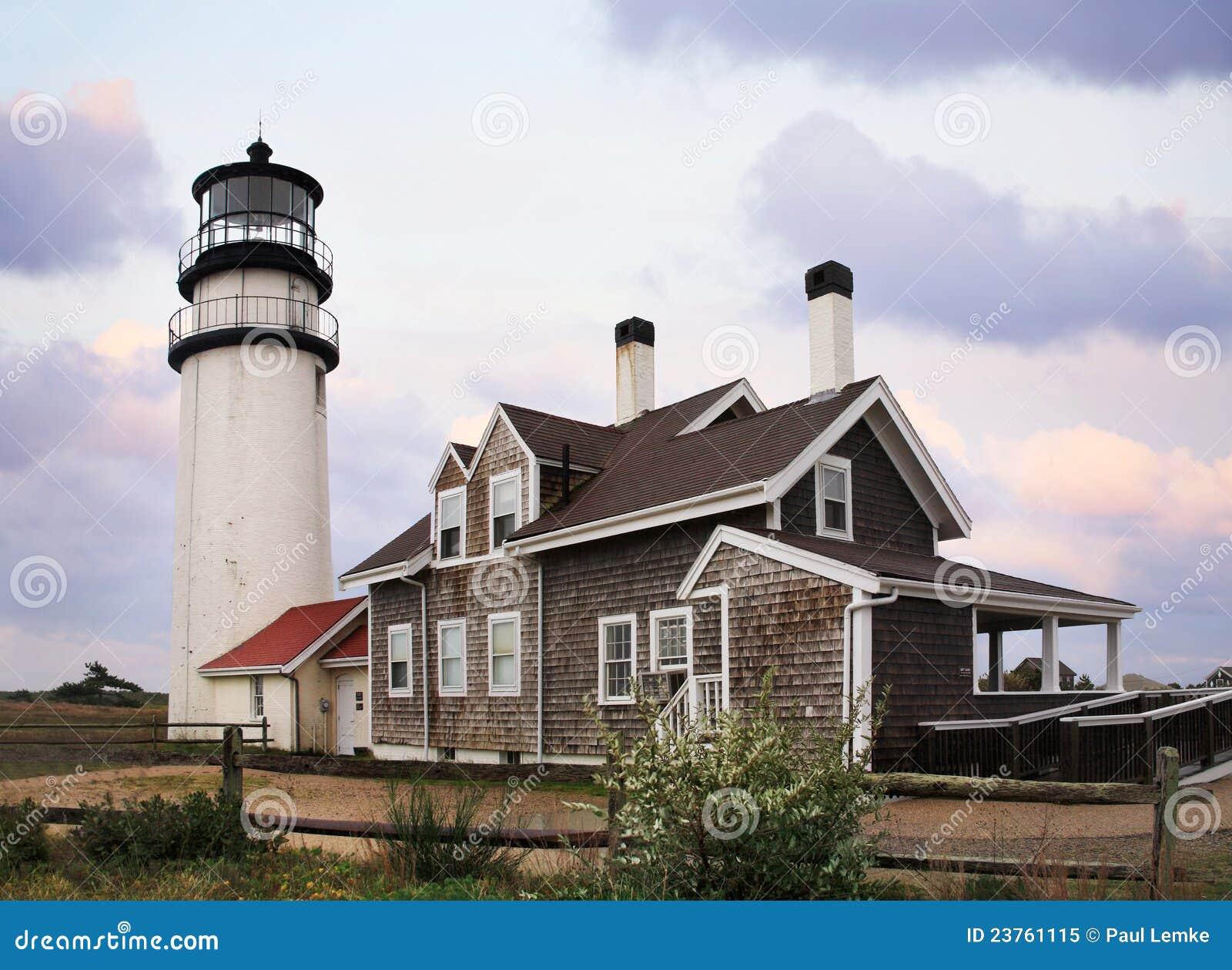 Der Cape- Codhochland-Leuchtturm
