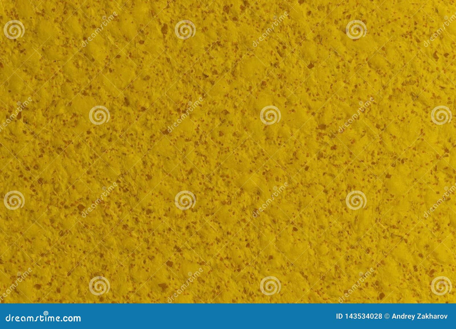 Der Dekor des Wohnzimmers Gelbe Wandbeschaffenheit