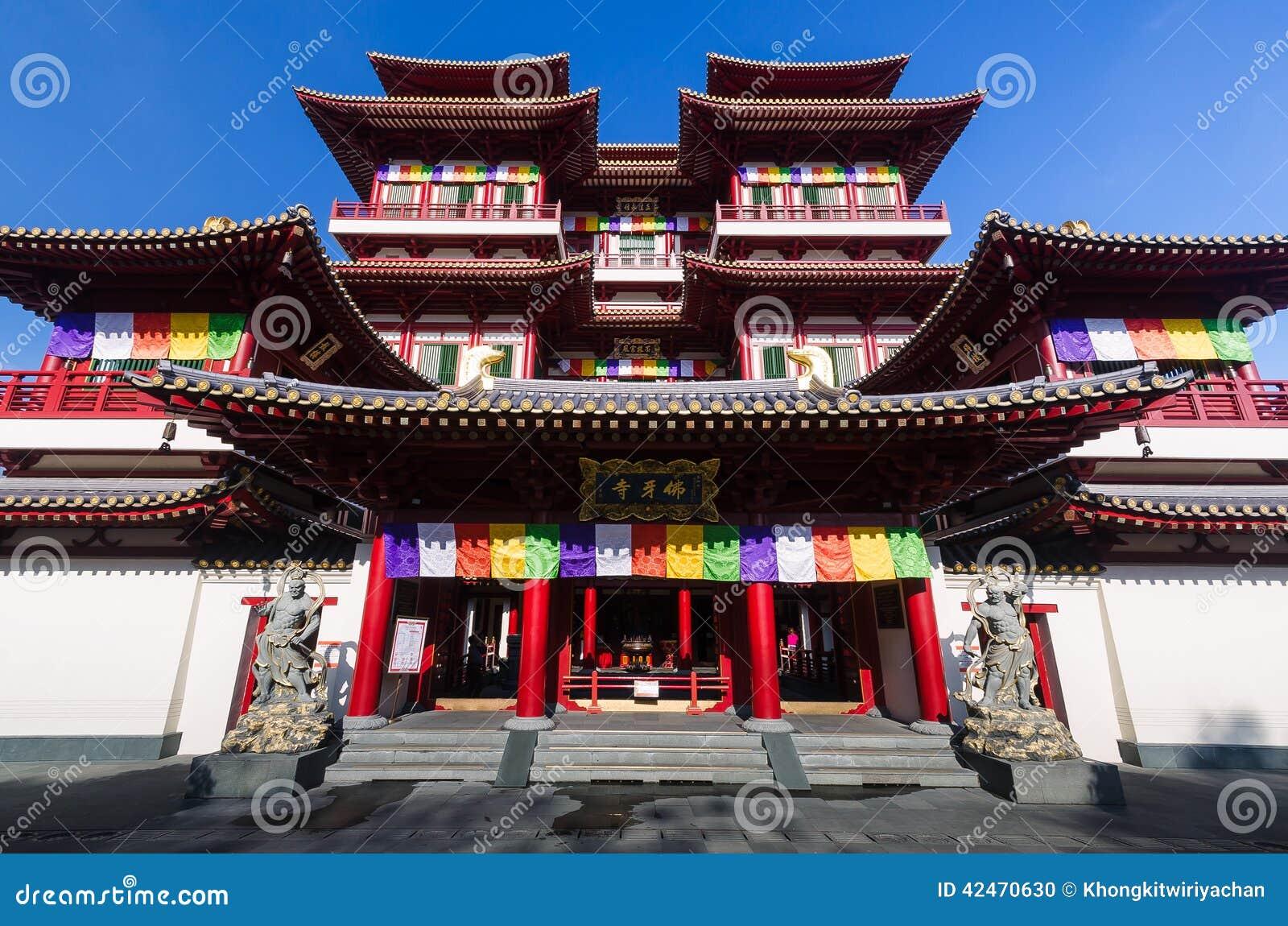 Der des Buddhas Relikt-Zahn-Tempel in Singapur