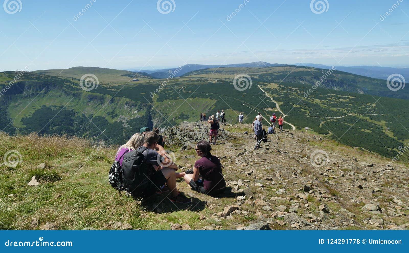 Der Eingang zur Spitze von ` Sniezka-` Berg