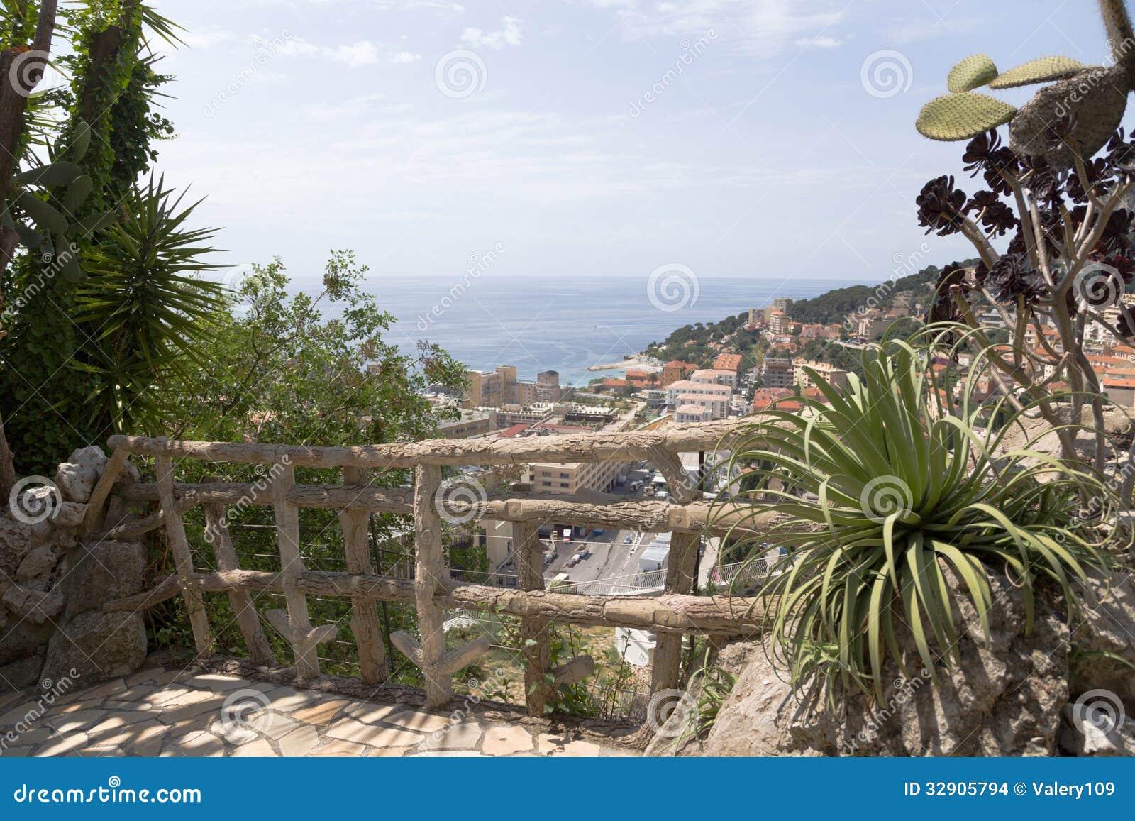 Der Exotische Garten Von Monaco Stockfoto Bild Von Landschaft