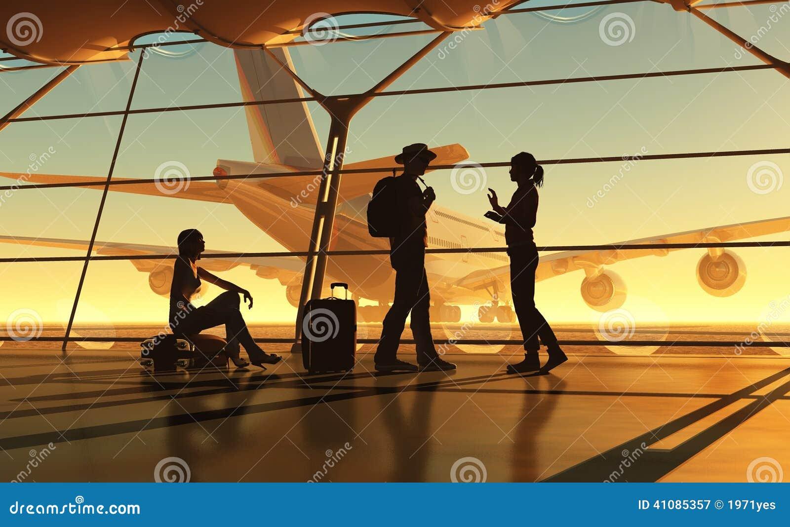 Flirten am flughafen
