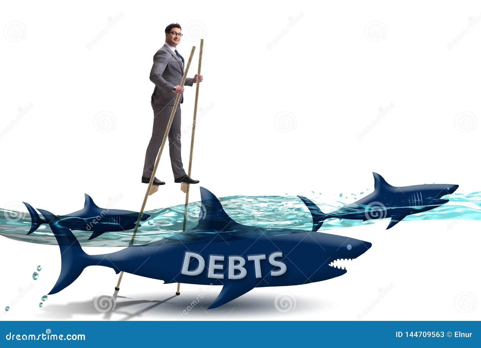 Der Gesch?ftsmann, der erfolgreich Darlehen und Schulden besch?ftigt