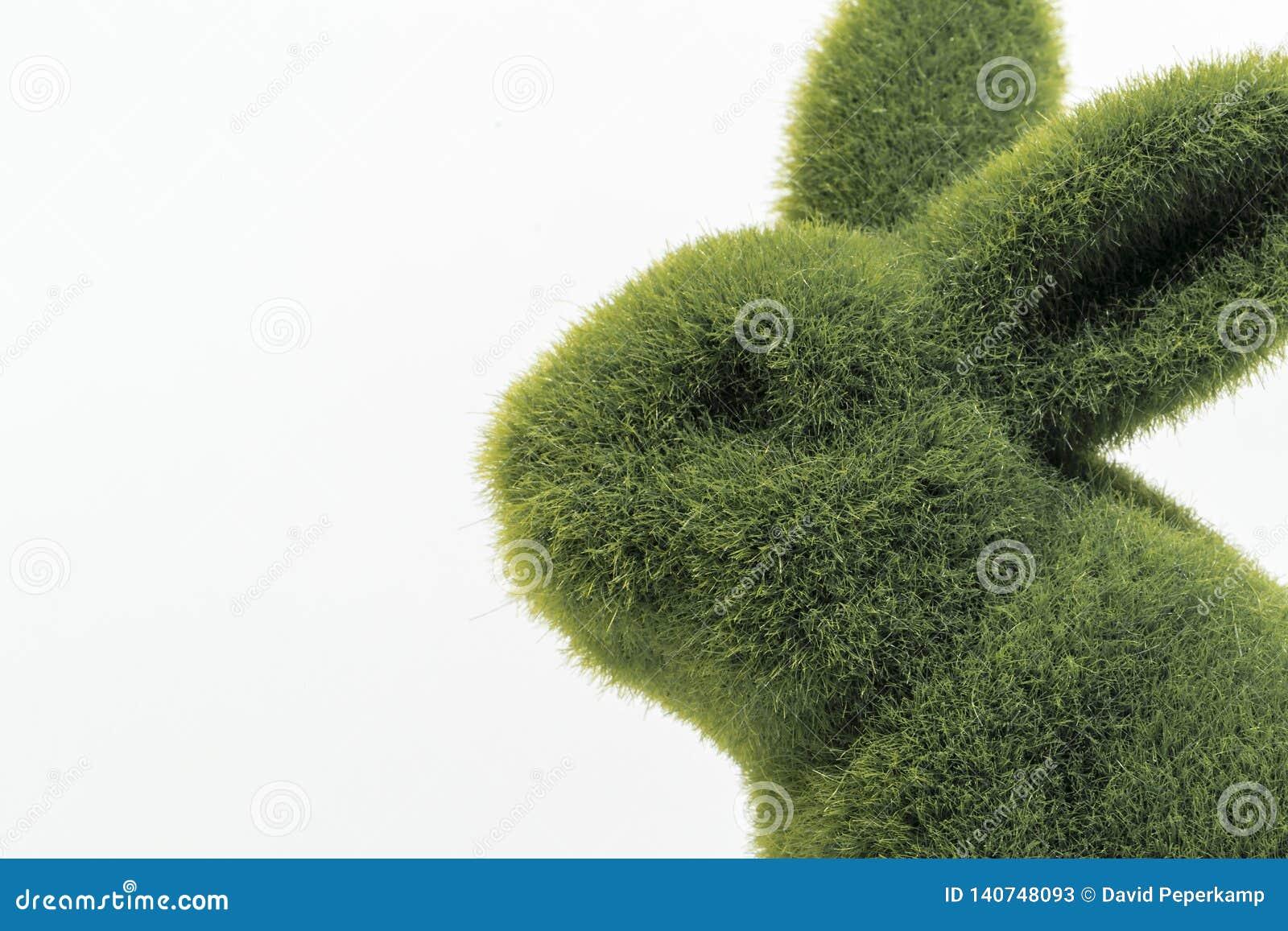 Der grüne Pelz-Abschluss Osterhasen oben