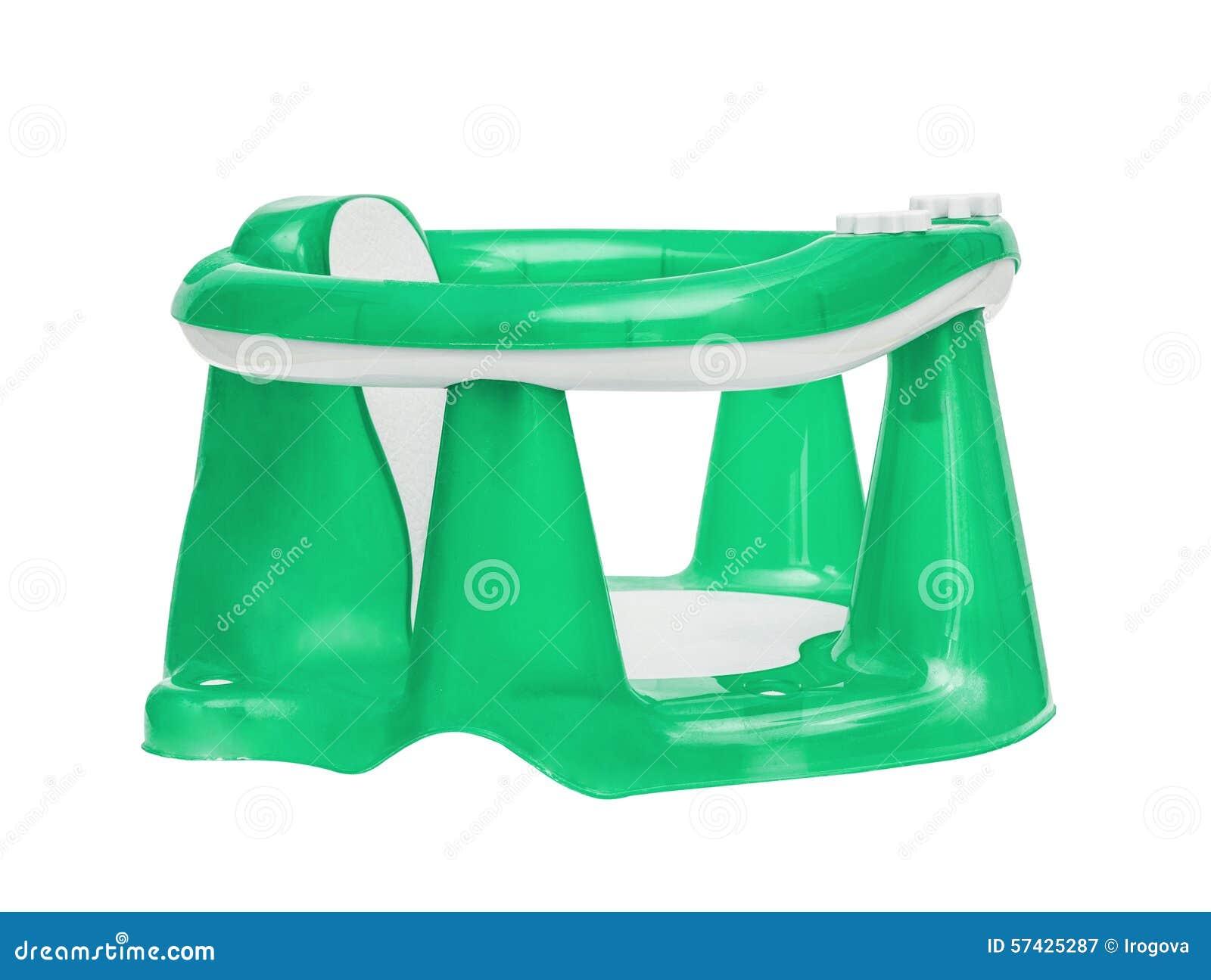 Der Grüne Stuhl Der Kinder Für Das Baden Stockbild Bild Von Stuhl