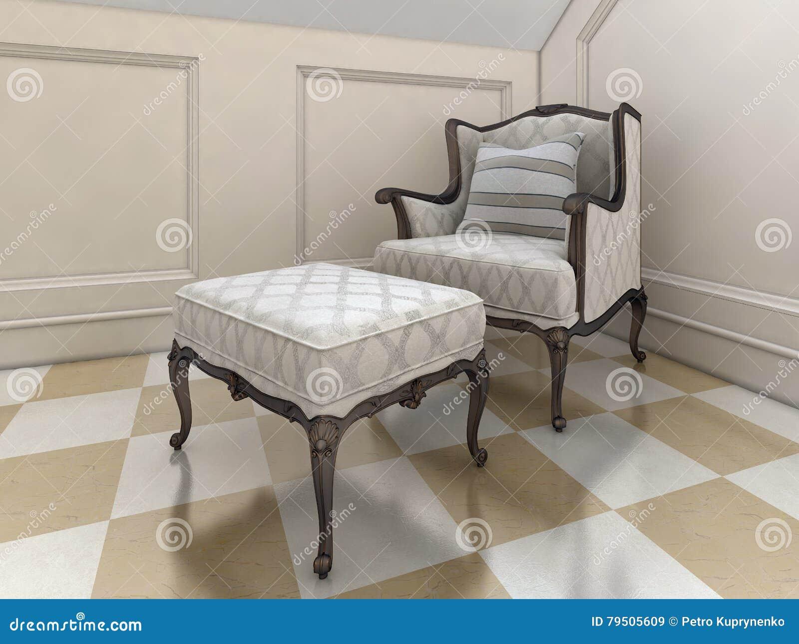Der Grosse Sessel Im Badezimmer In Der Englischen Art Stock Abbildung Illustration Von Grosse Sessel 79505609