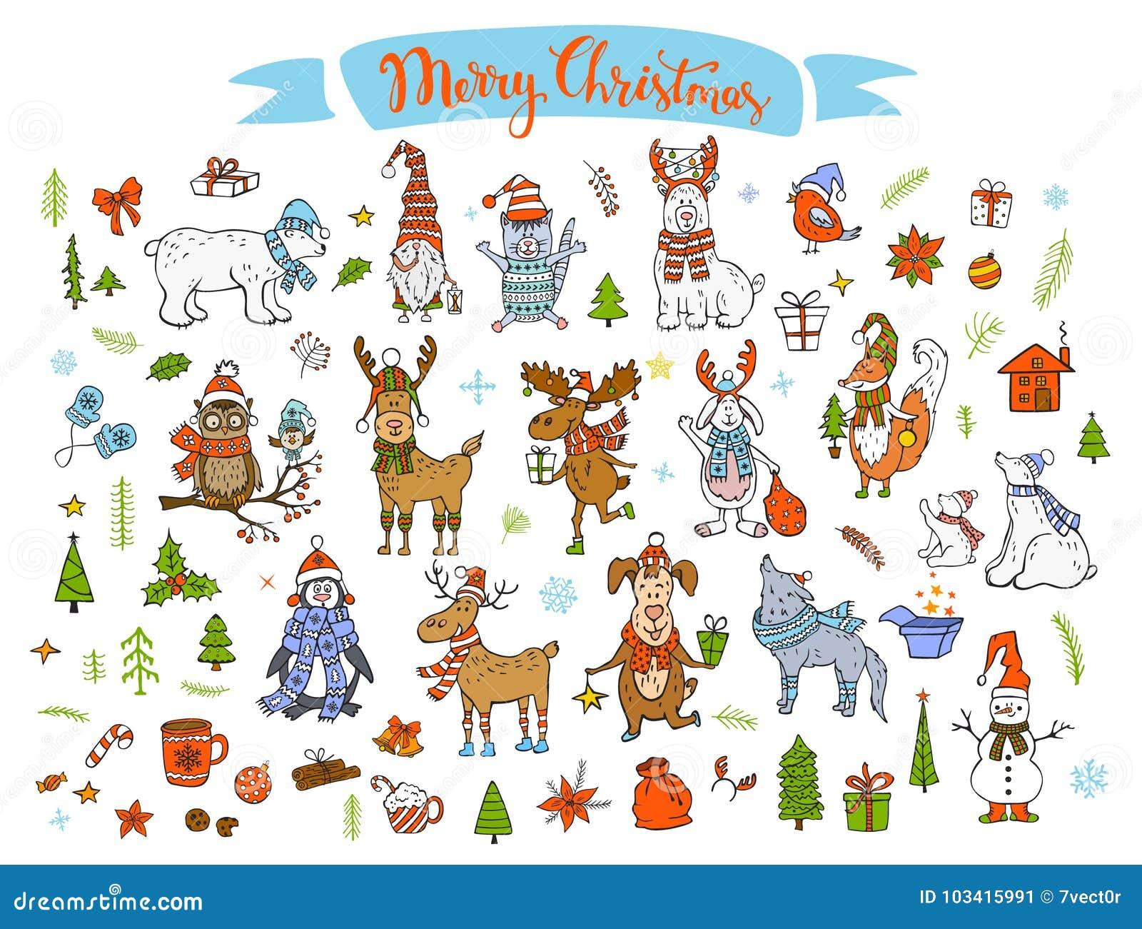 Der Guten Rutsch Ins Neue Jahr Winter Karikatur Der Frohen
