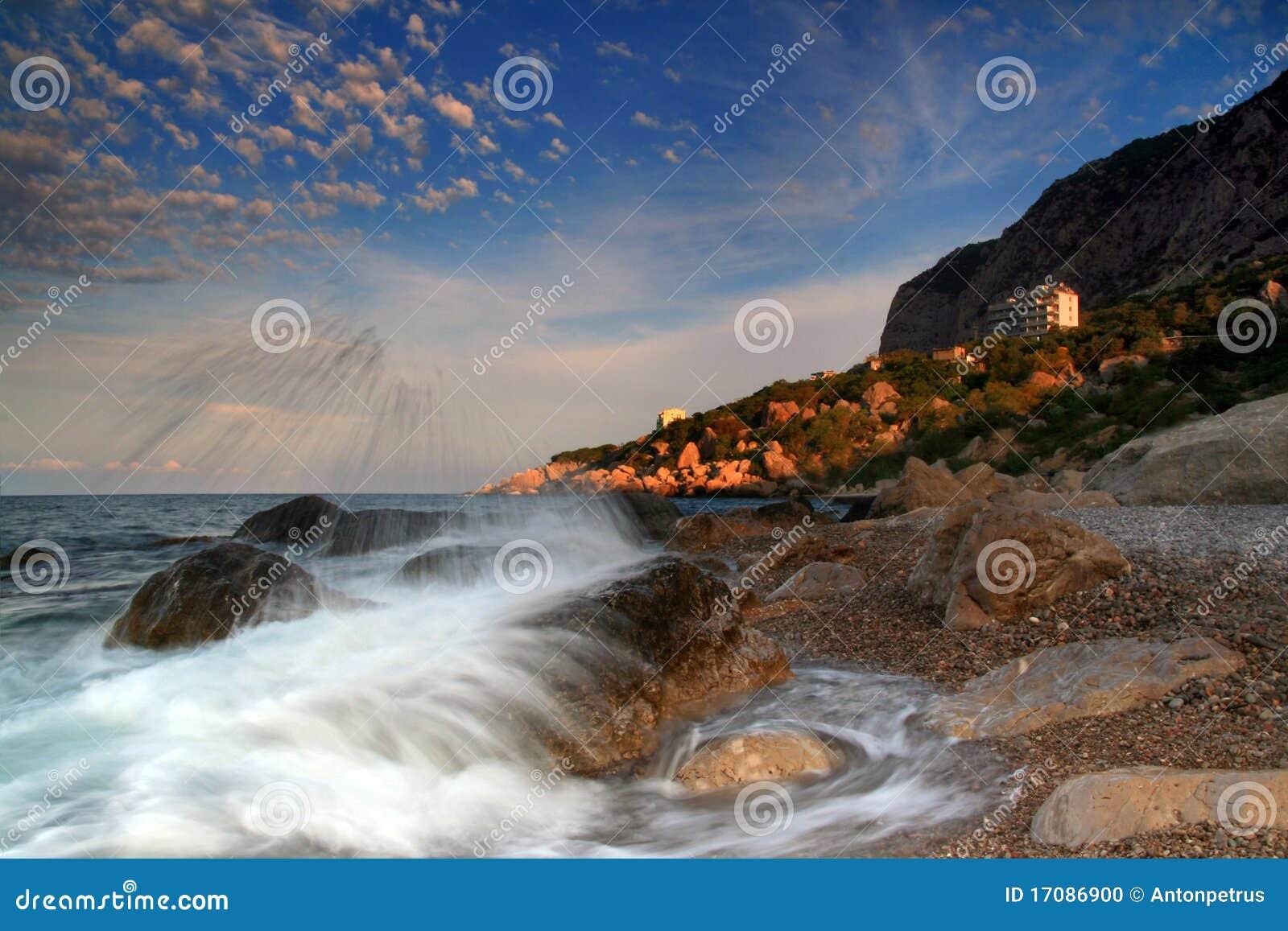 Der Himmel über der Rücksortierung des Mittelmeeres