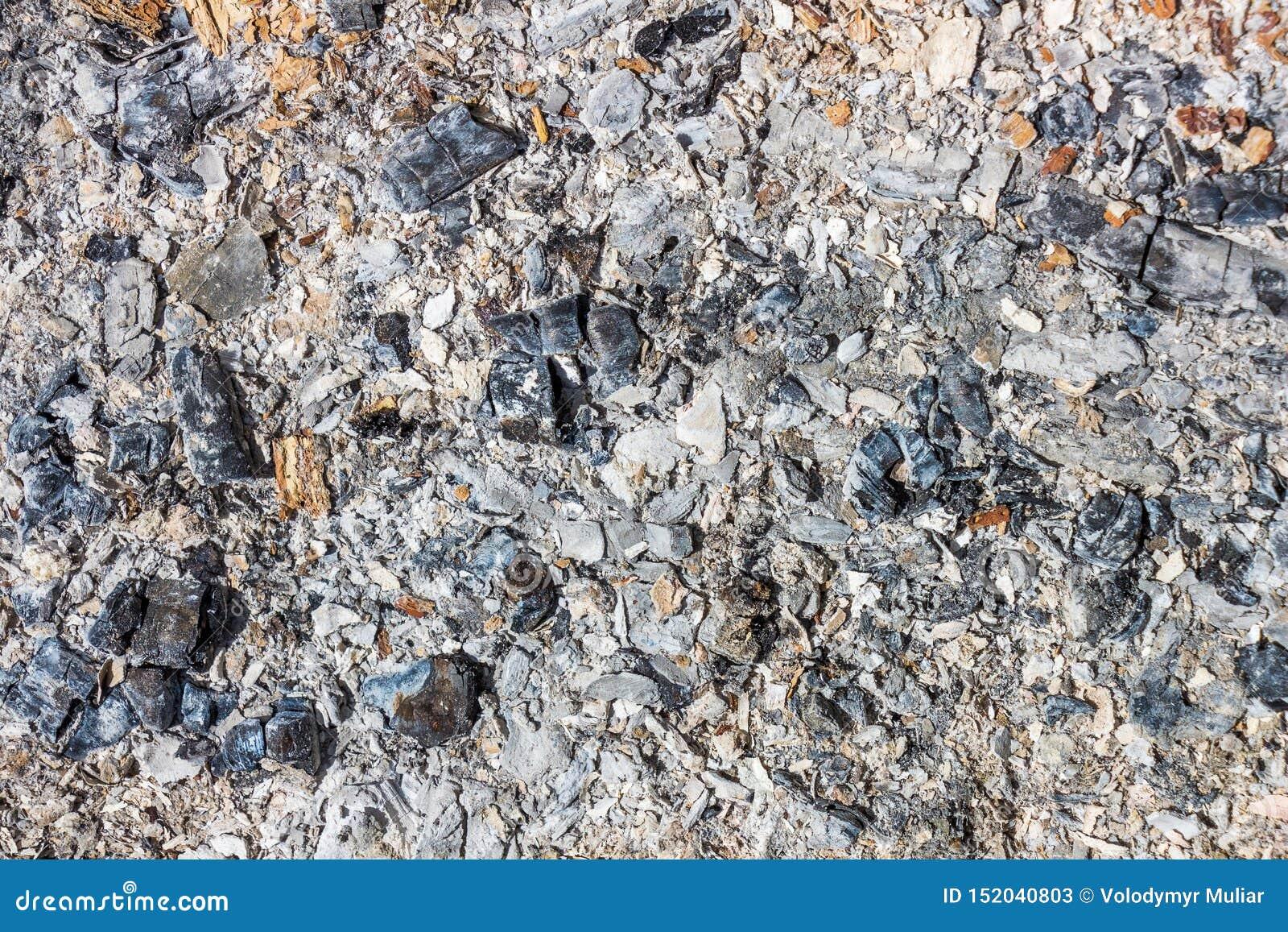 Der Hintergrund der Asche Kohle von gebranntem wood_