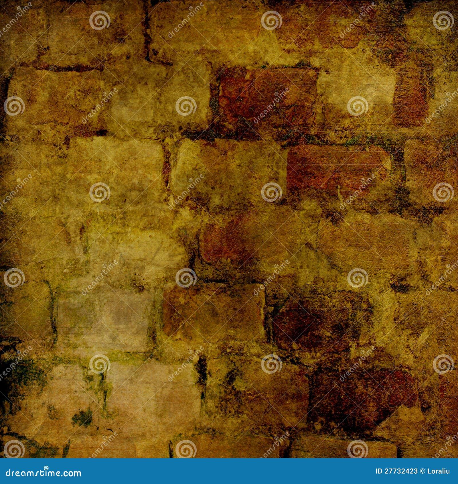 Der Hintergrund der alten Maurerarbeit