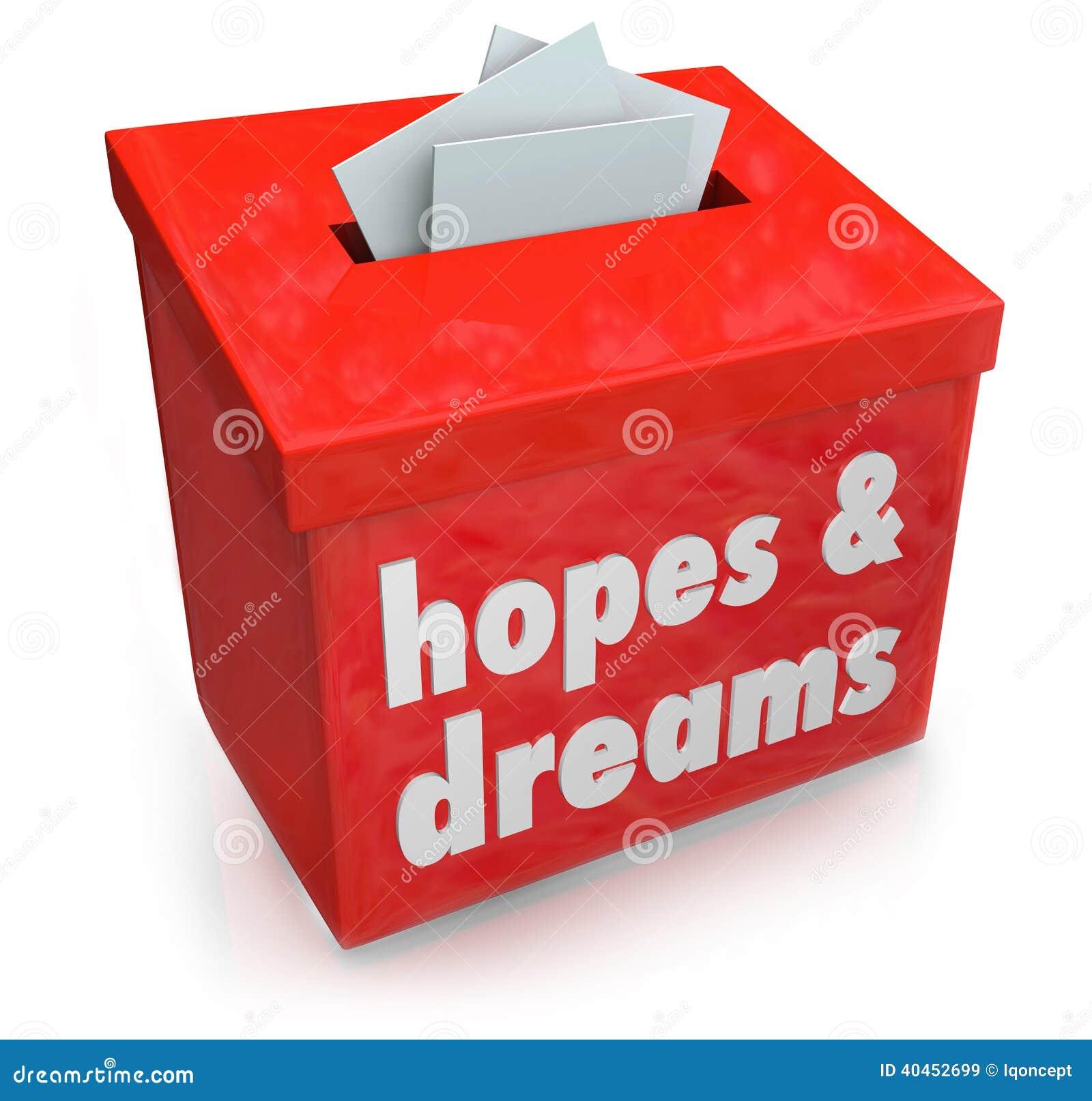 Der Hoffnungs-Traum-Kasten, der Wünsche sammelt, wünscht sehnsüchtigen Ehrgeiz