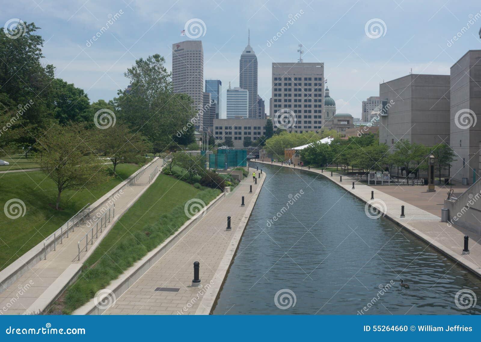 Der Kanalbereich in Indianapolis, Indiana