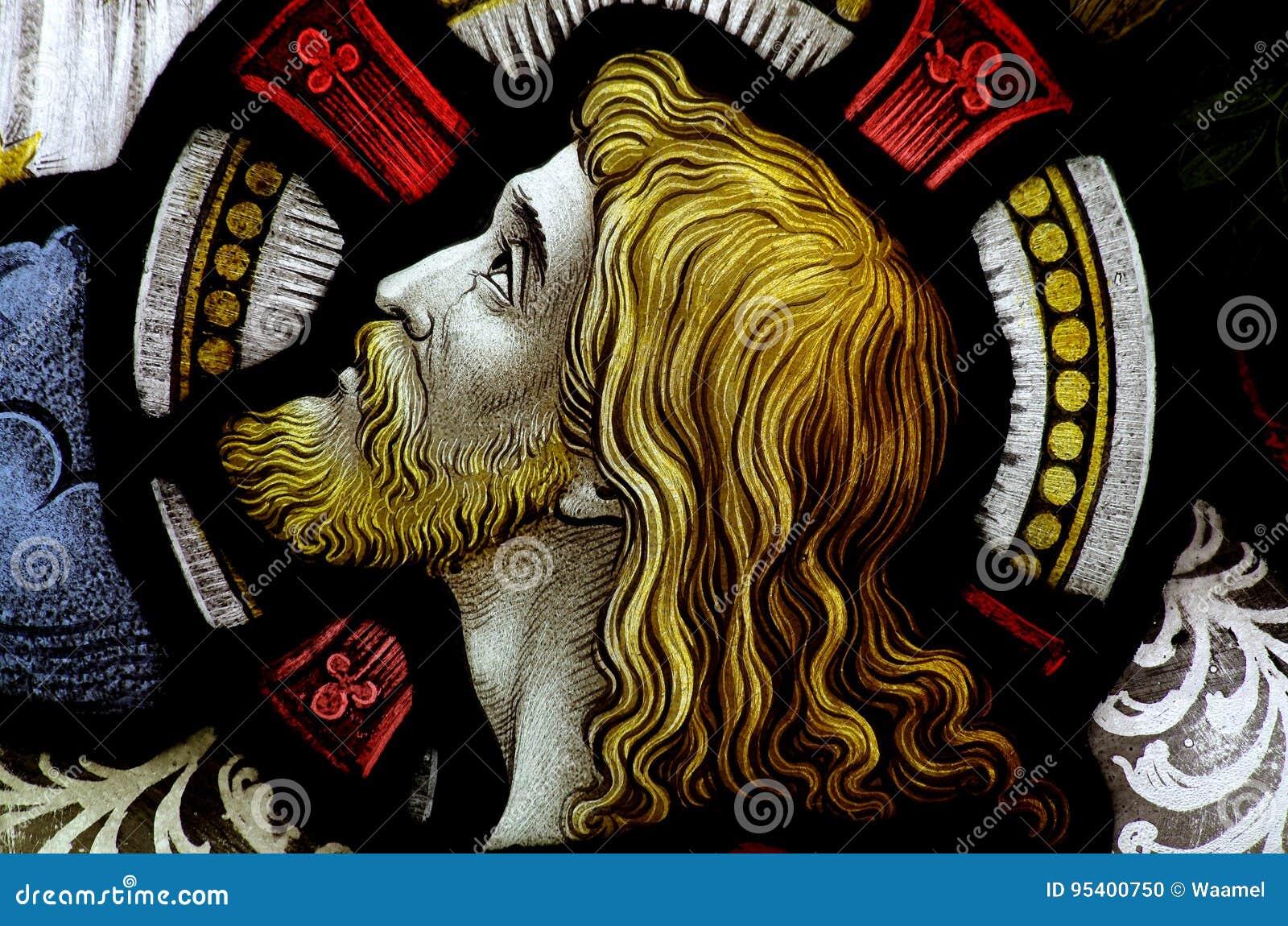 Der Kopf von Jesus Christ im Buntglas