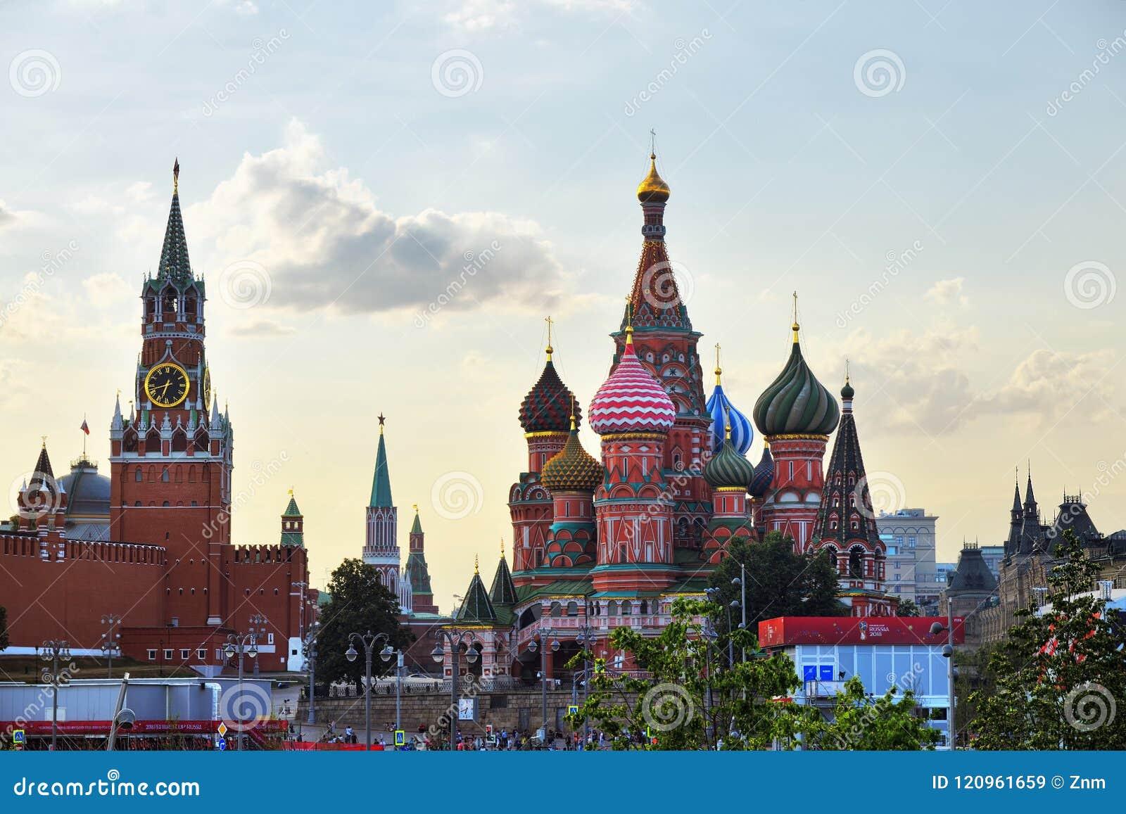 Der Kreml und Tempel von Vasiliy himmlisch