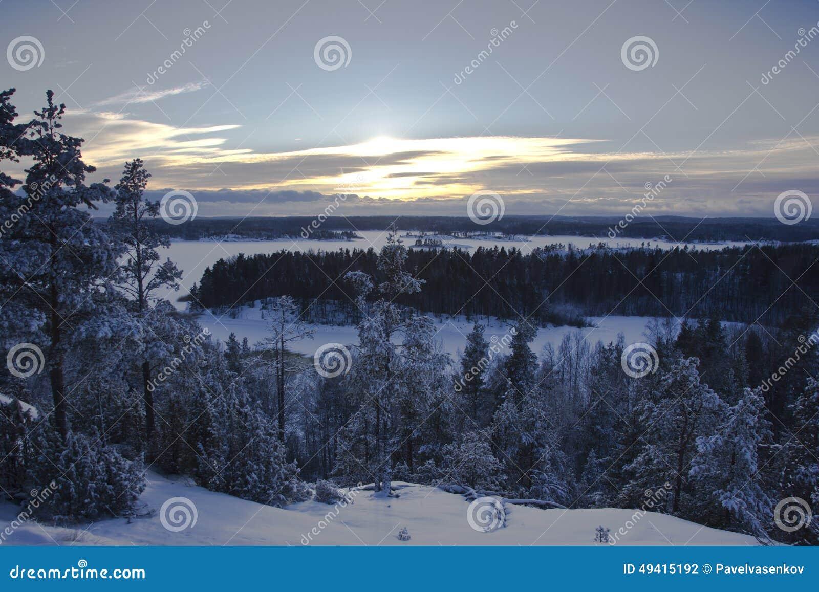 Download Der Ladogasee, Karelien, Russland Stockfoto - Bild von sonnenuntergang, senke: 49415192