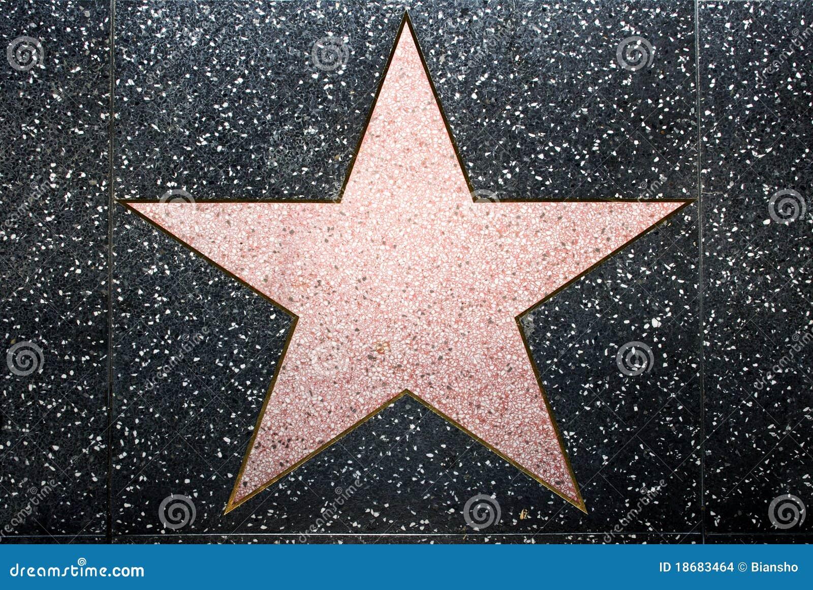Der leere Stern redaktionelles stockbild. Bild von kalifornien ...