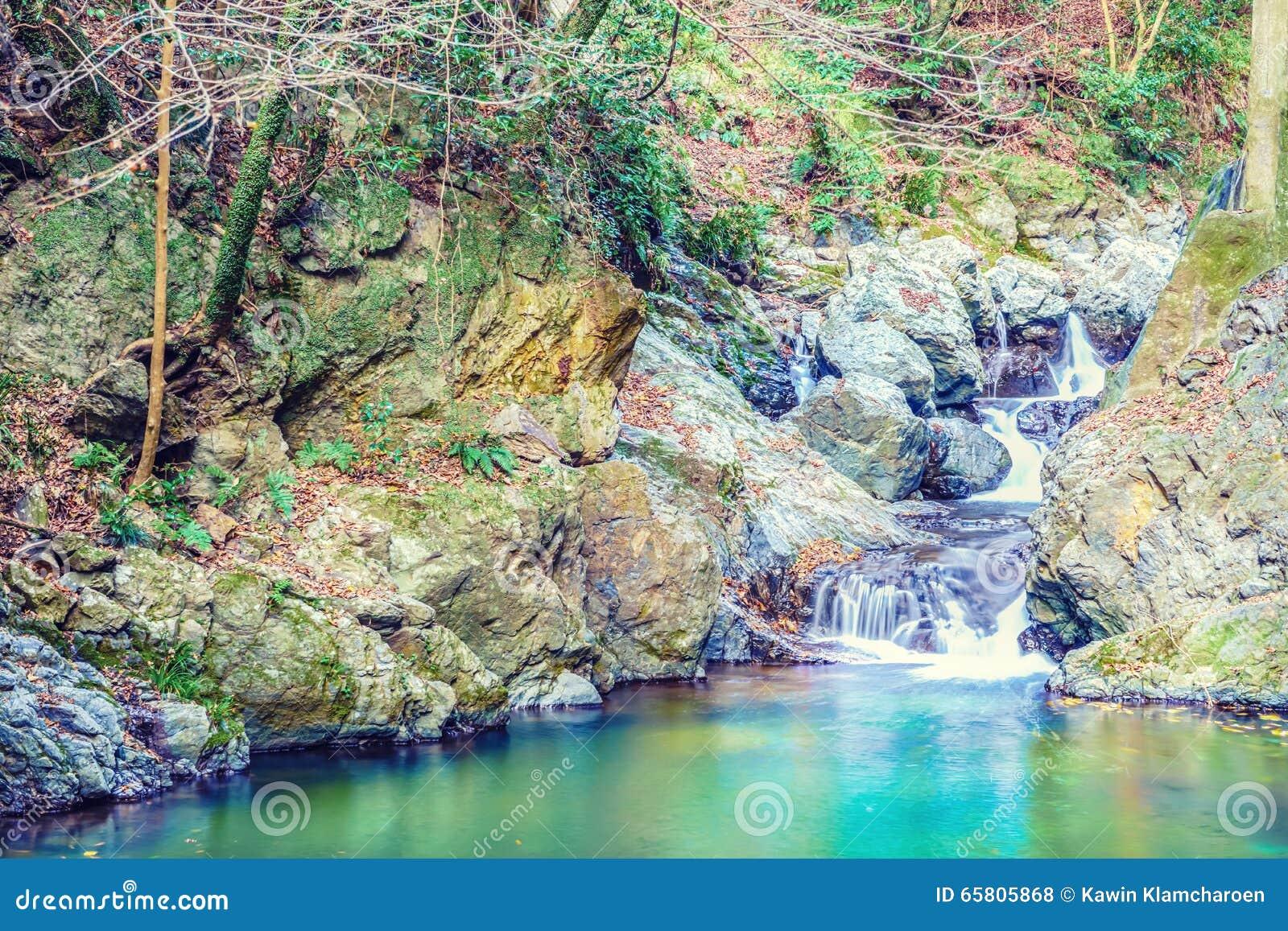 Der Llittle-Wasserfall im Minoo-Park, Osaka, Japan