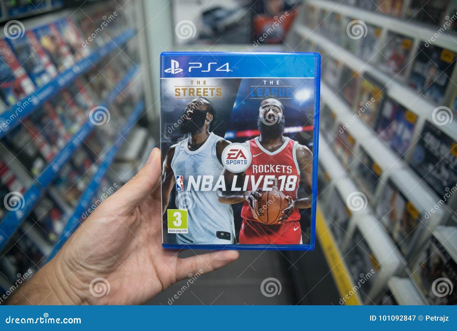 Der Mann, der NBA hält, leben Videospiel 18 auf Konsole Sony Playstations 4 im Speicher