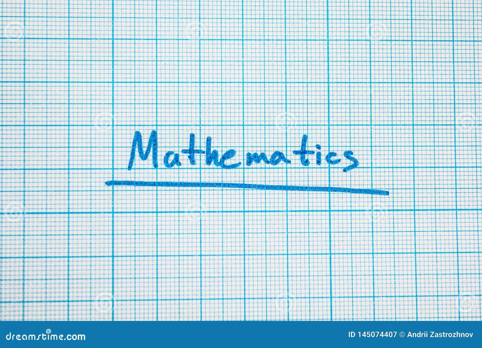 Der Mathematik des Wortes 'ist Nahaufnahme