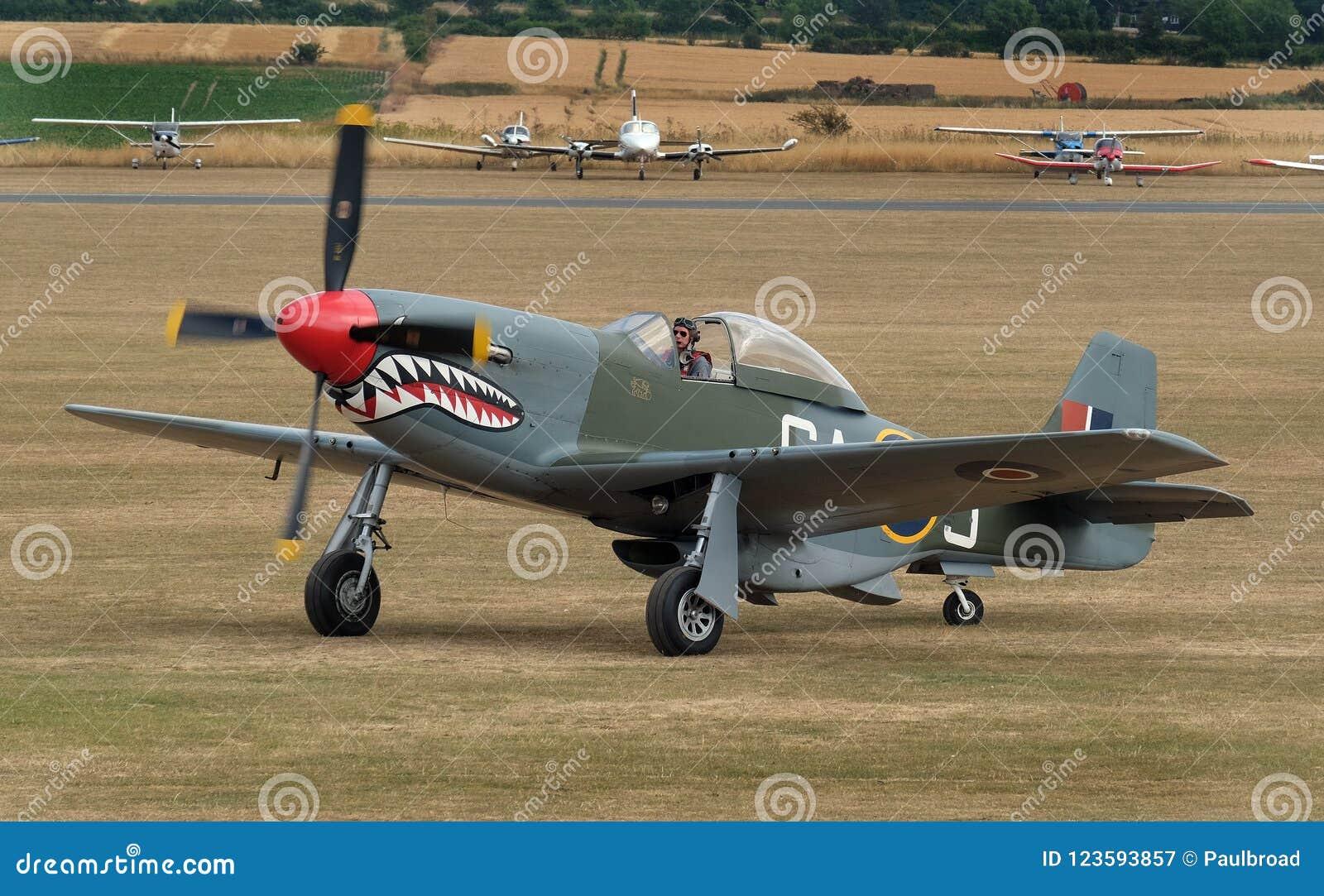 Der nordamerikanische Mustang der Luftfahrt-P-51 ist ein amerikanischer weit reichender, EinzelSeat-Kämpfer und ein Jagdbomber