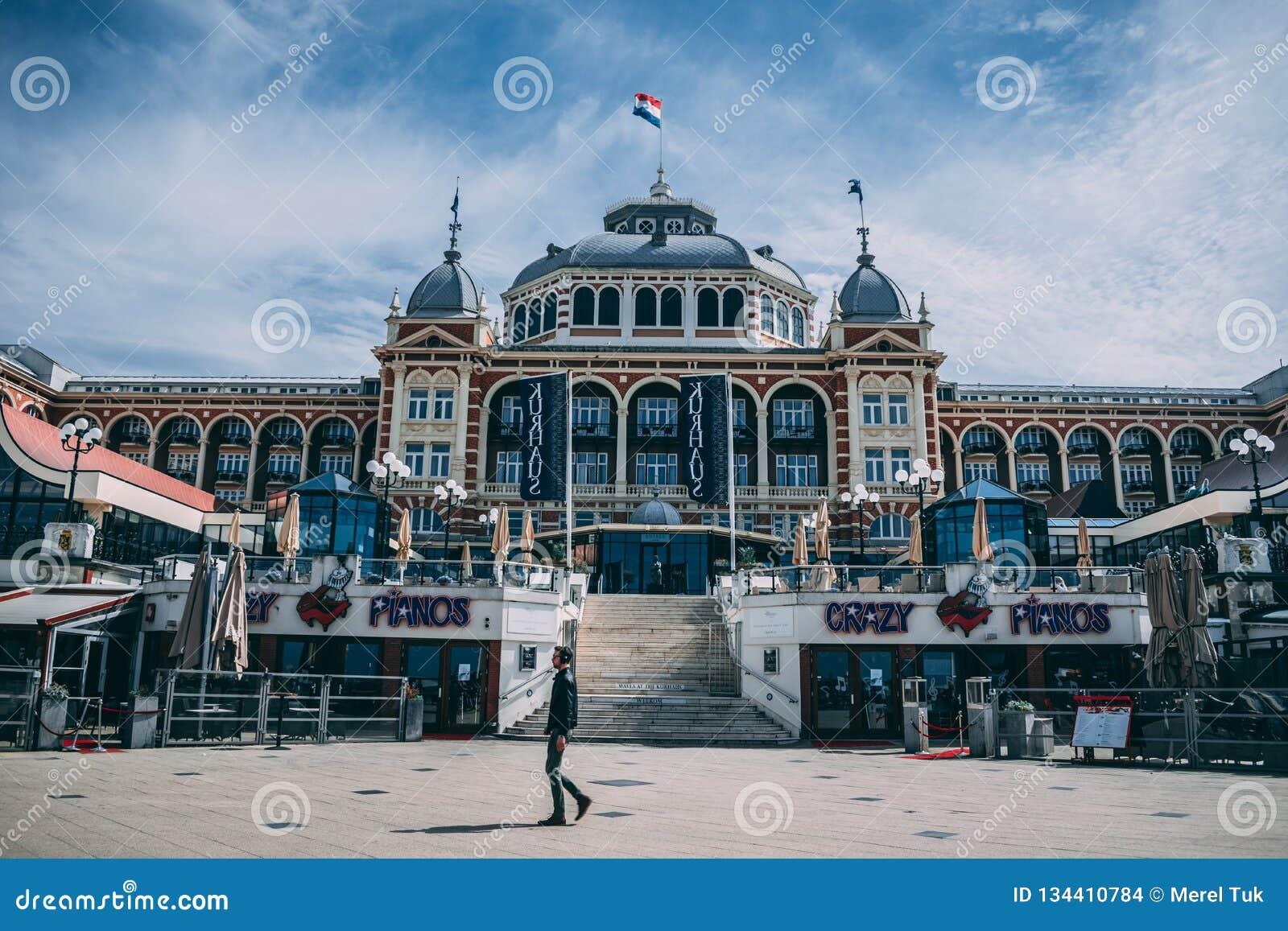 Der Pier von Scheveingen Den Haag in den Niederlanden