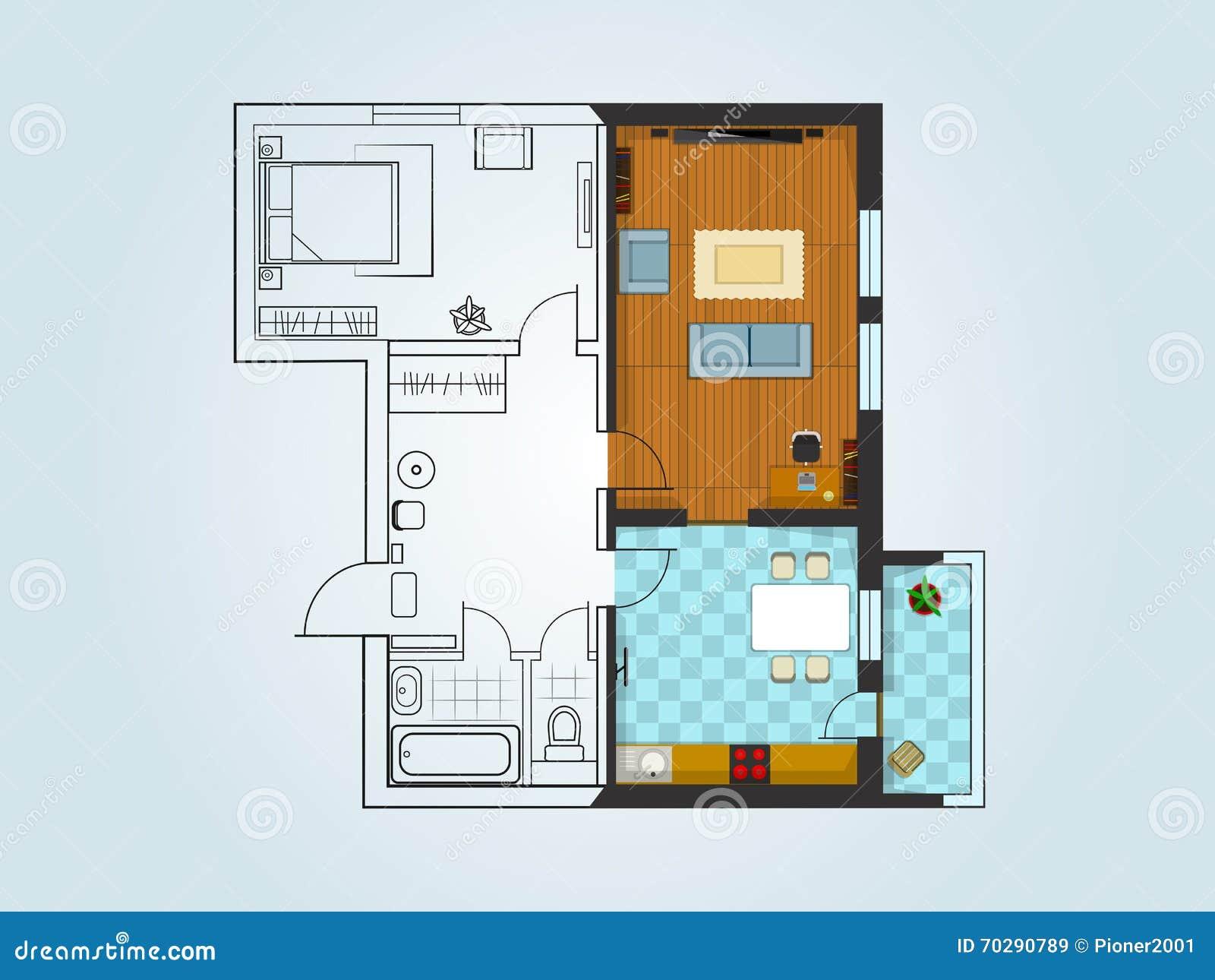 Der Plan der Wohnung
