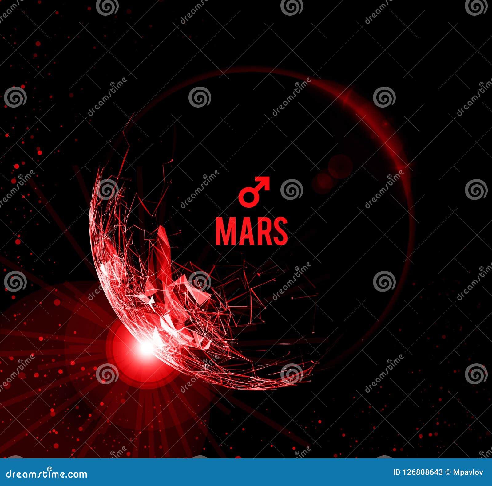 Der Planet Mars Auch Im Corel Abgehobenen Betrag Mars In Der