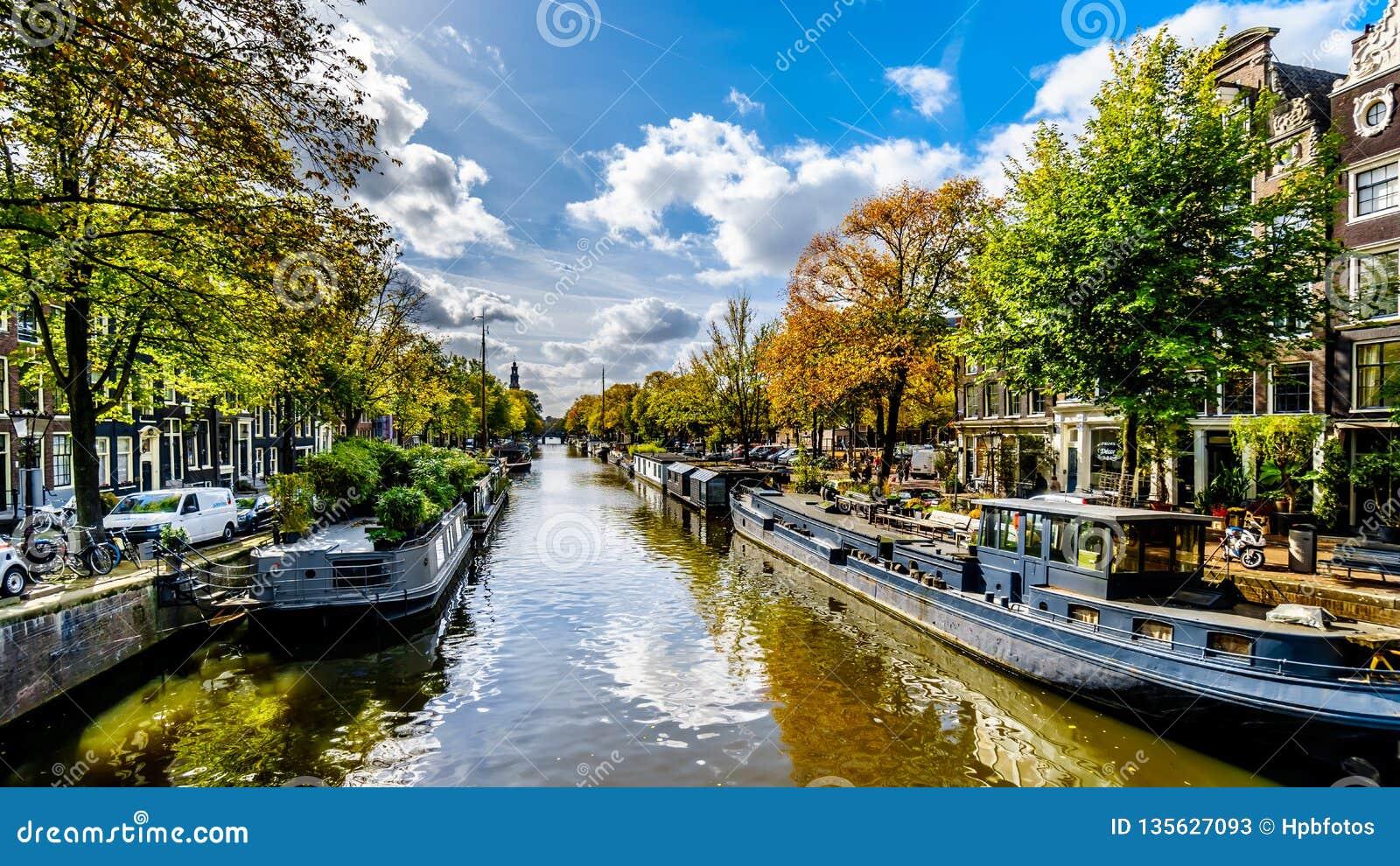 Der Prinsengracht Prinz Canal in Amsterdam in Holland