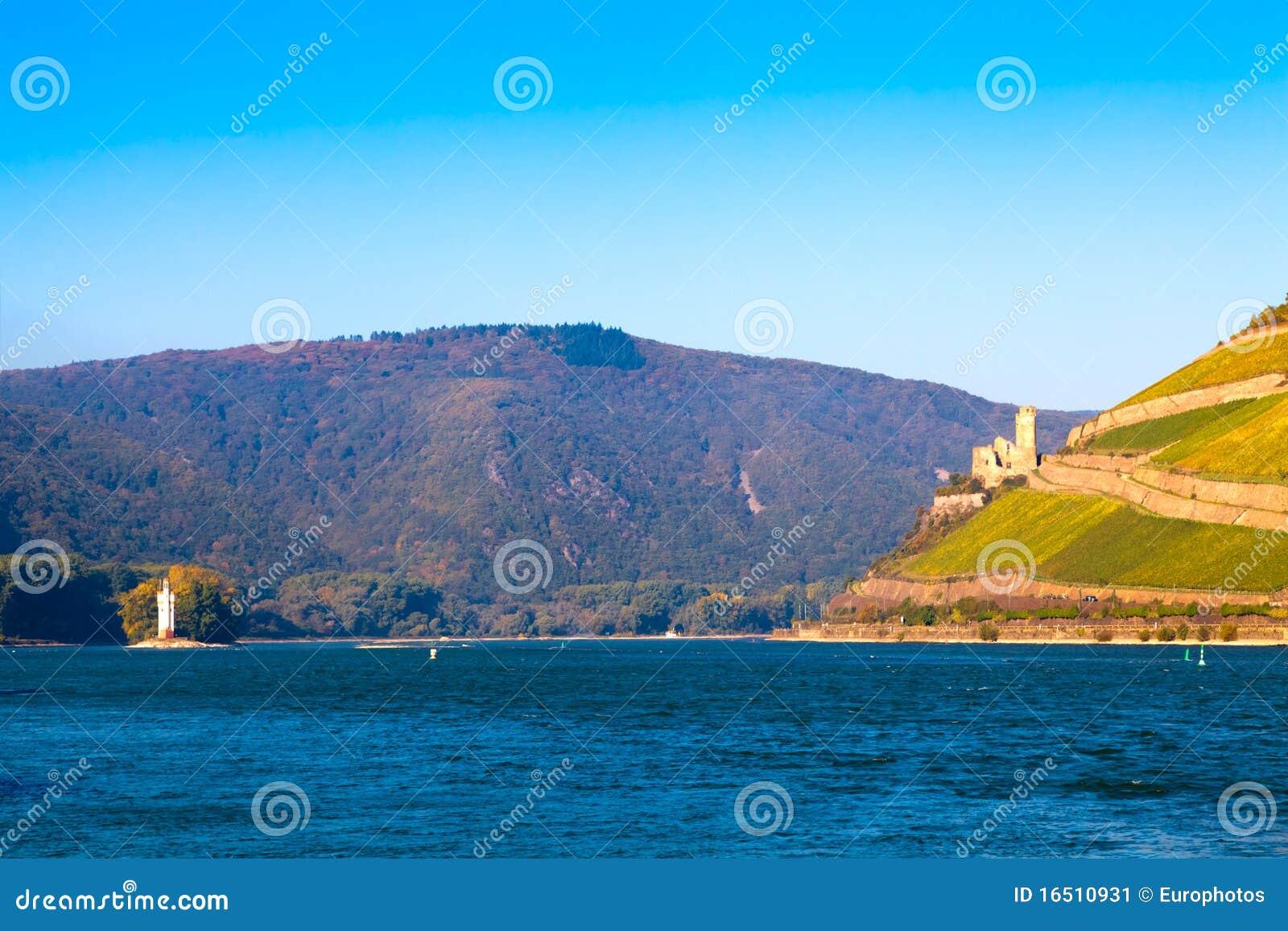 Der Rhein nahe Bingen, Deutschland
