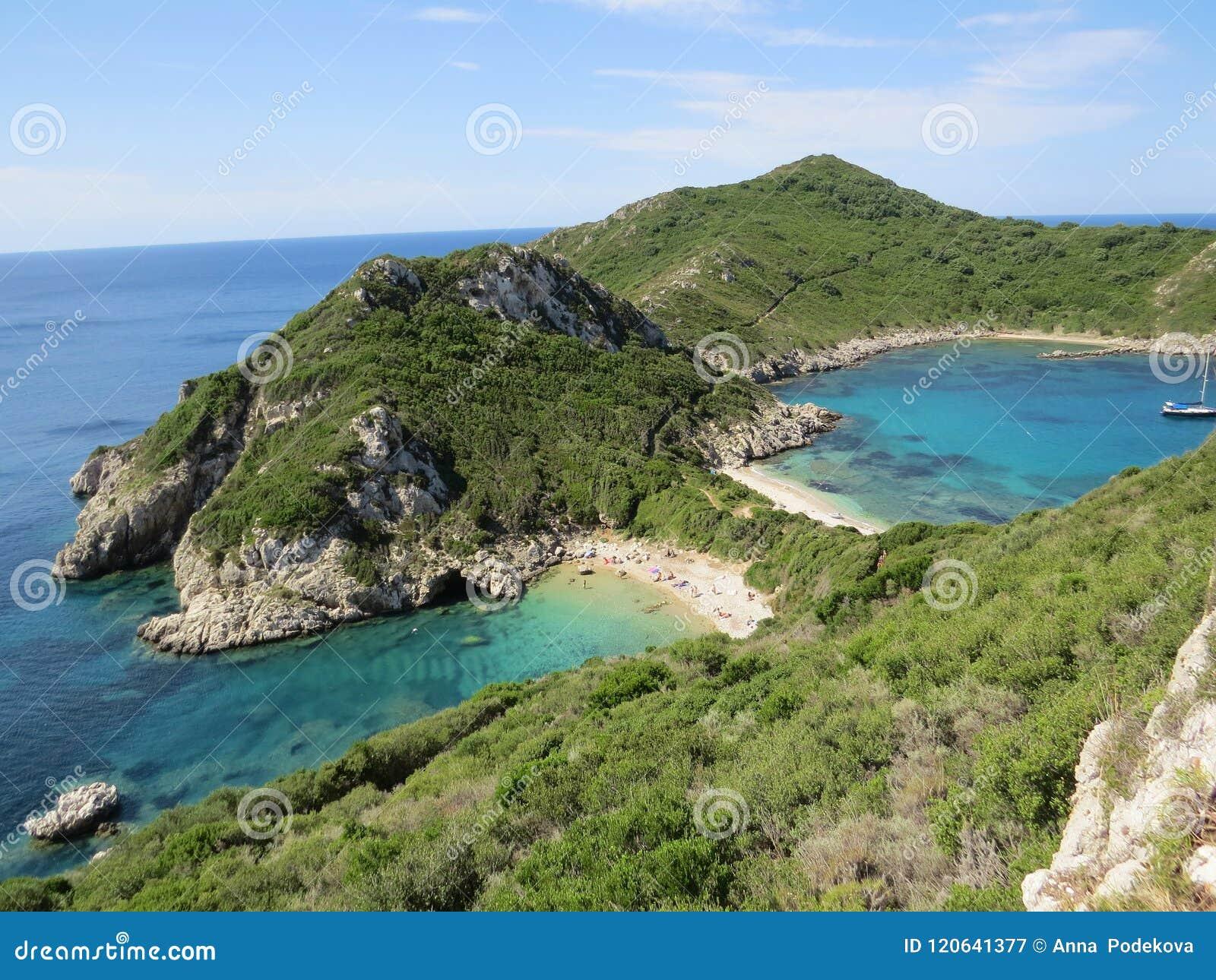 Der Schönste Strand Porto Timoni Afionas Auf Der Griechischen Insel